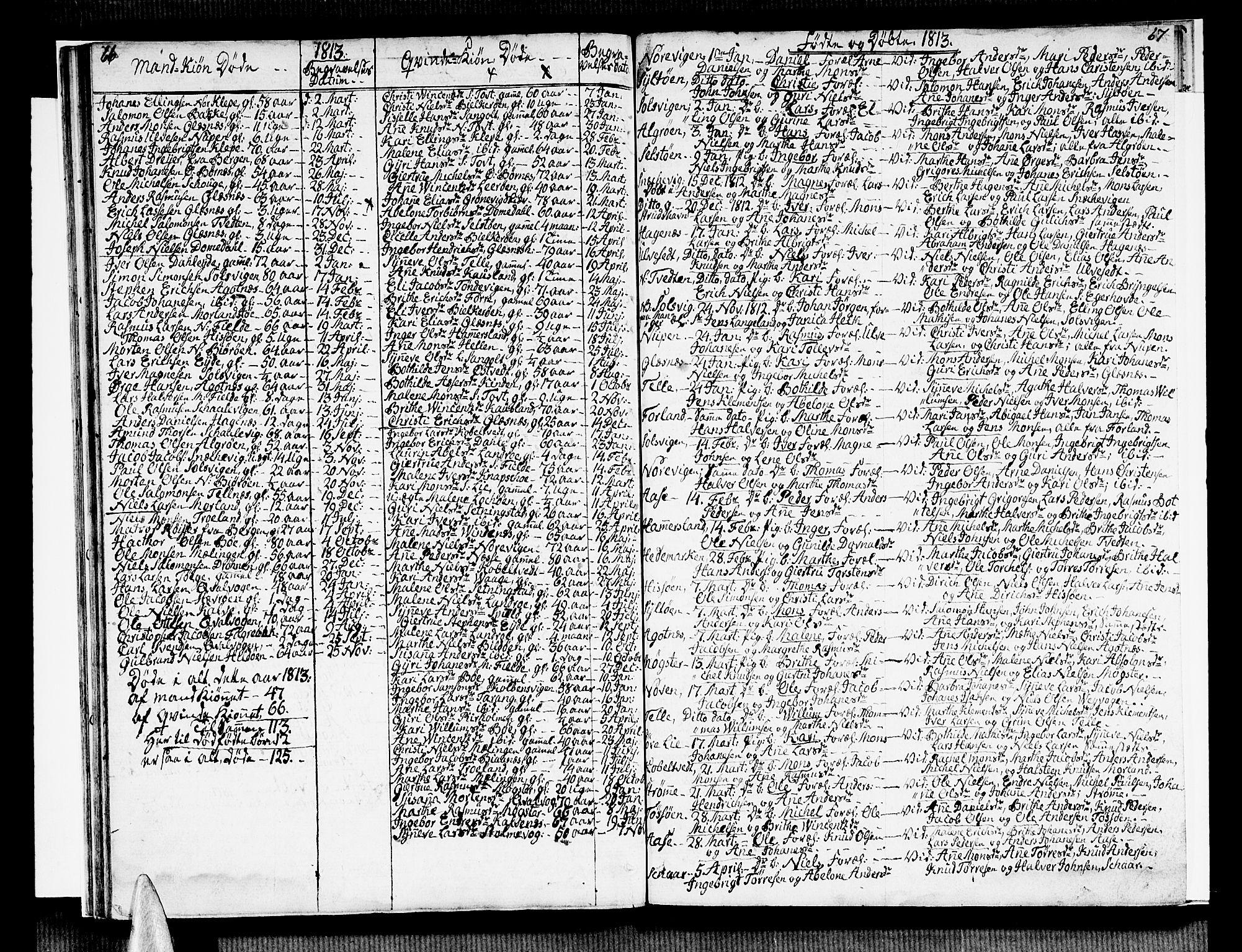SAB, Sund sokneprestembete, Ministerialbok nr. A 10, 1804-1818, s. 66-67