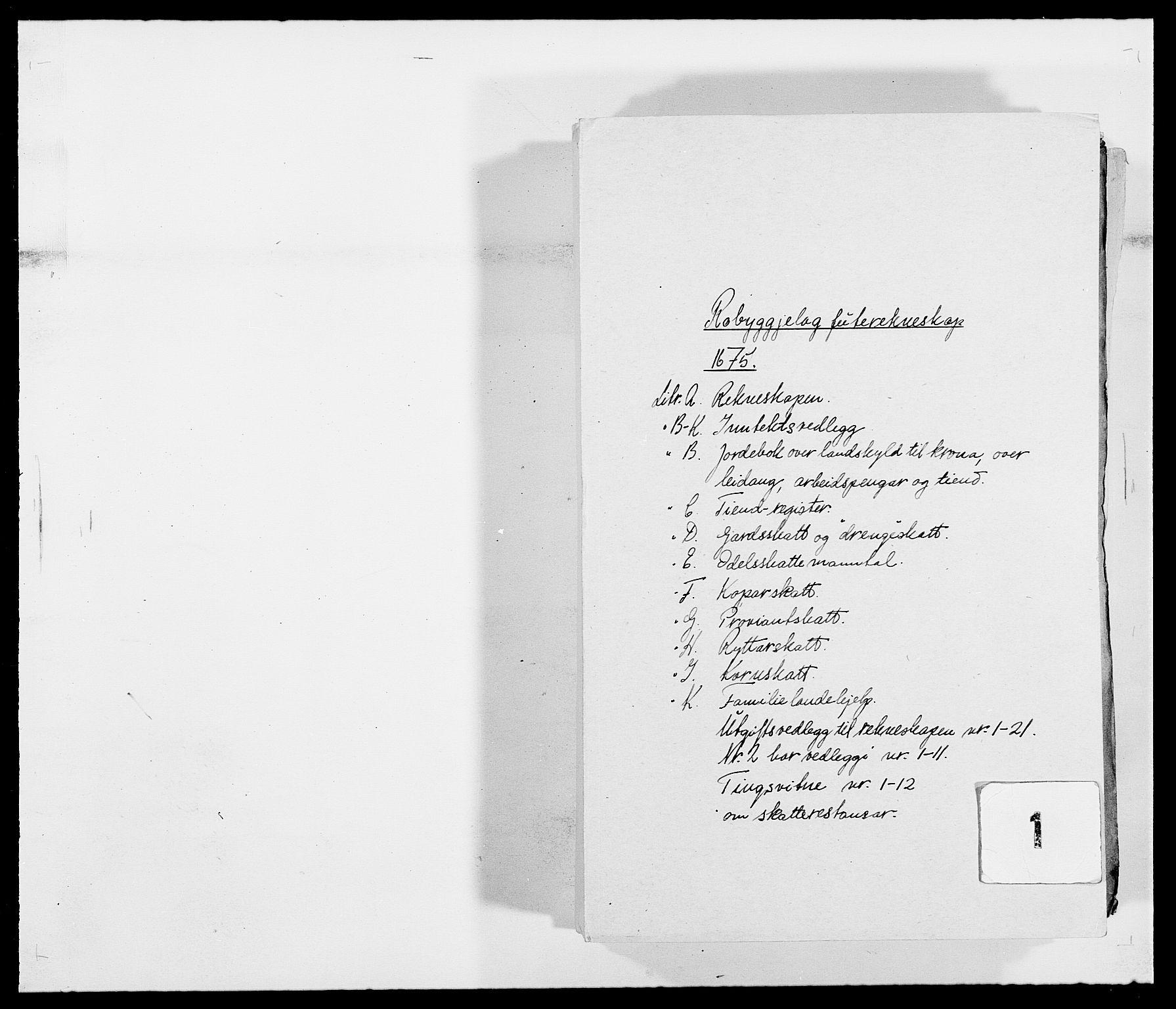 RA, Rentekammeret inntil 1814, Reviderte regnskaper, Fogderegnskap, R40/L2434: Fogderegnskap Råbyggelag, 1675-1676, s. 1