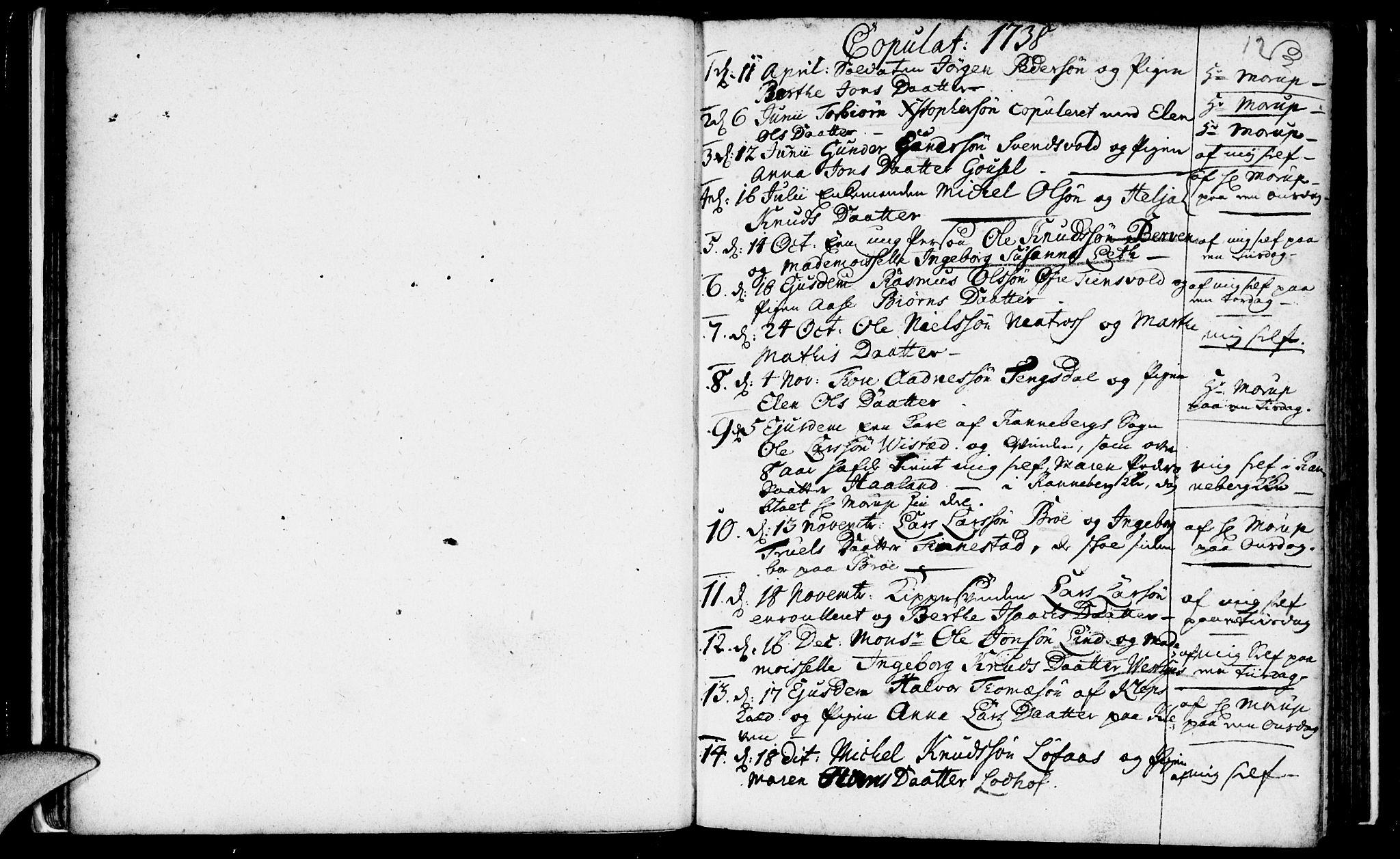 SAST, Domkirken sokneprestkontor, 30/30BA/L0003: Ministerialbok nr. A 3 /1, 1738-1760, s. 12