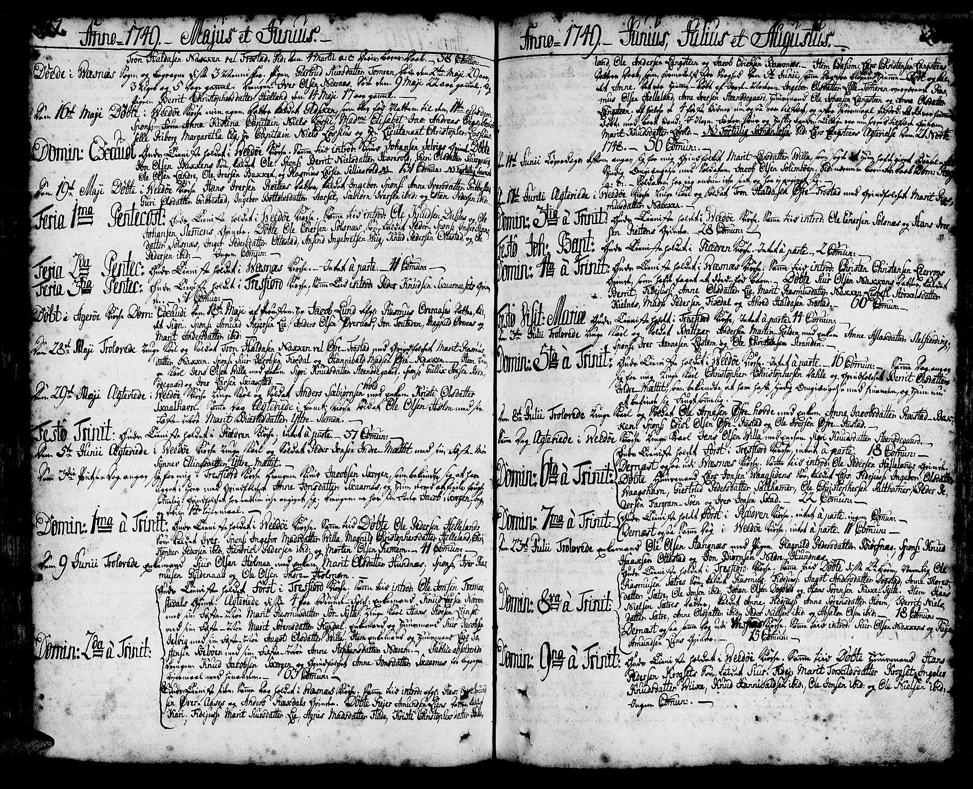 SAT, Ministerialprotokoller, klokkerbøker og fødselsregistre - Møre og Romsdal, 547/L0599: Ministerialbok nr. 547A01, 1721-1764, s. 316-317
