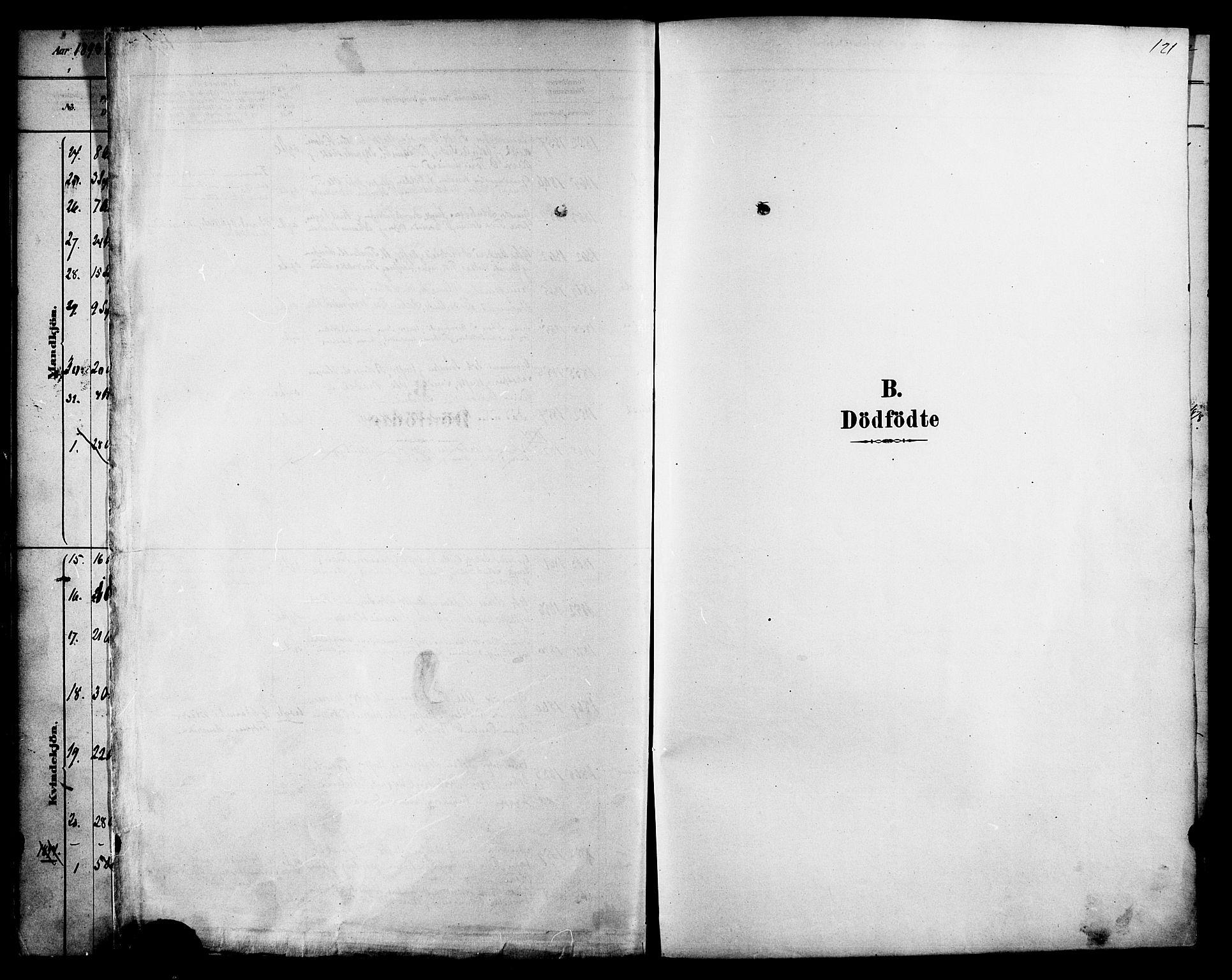 SAT, Ministerialprotokoller, klokkerbøker og fødselsregistre - Sør-Trøndelag, 616/L0410: Ministerialbok nr. 616A07, 1878-1893, s. 121