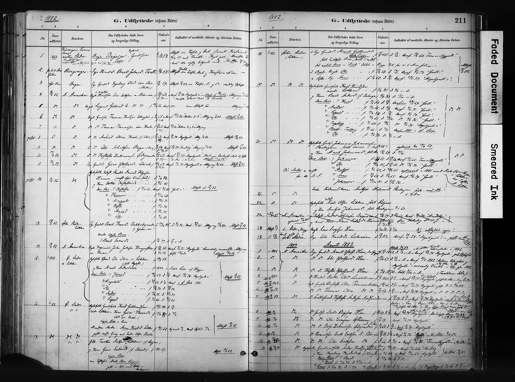SAH, Vang prestekontor, Valdres, Ministerialbok nr. 8, 1882-1910, s. 211