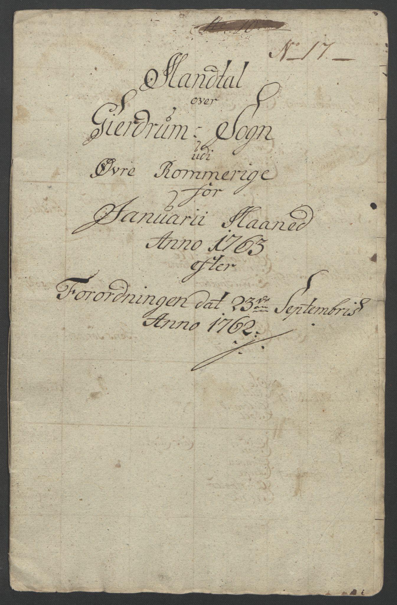 RA, Rentekammeret inntil 1814, Reviderte regnskaper, Fogderegnskap, R12/L0802: Ekstraskatten Øvre Romerike, 1762, s. 329