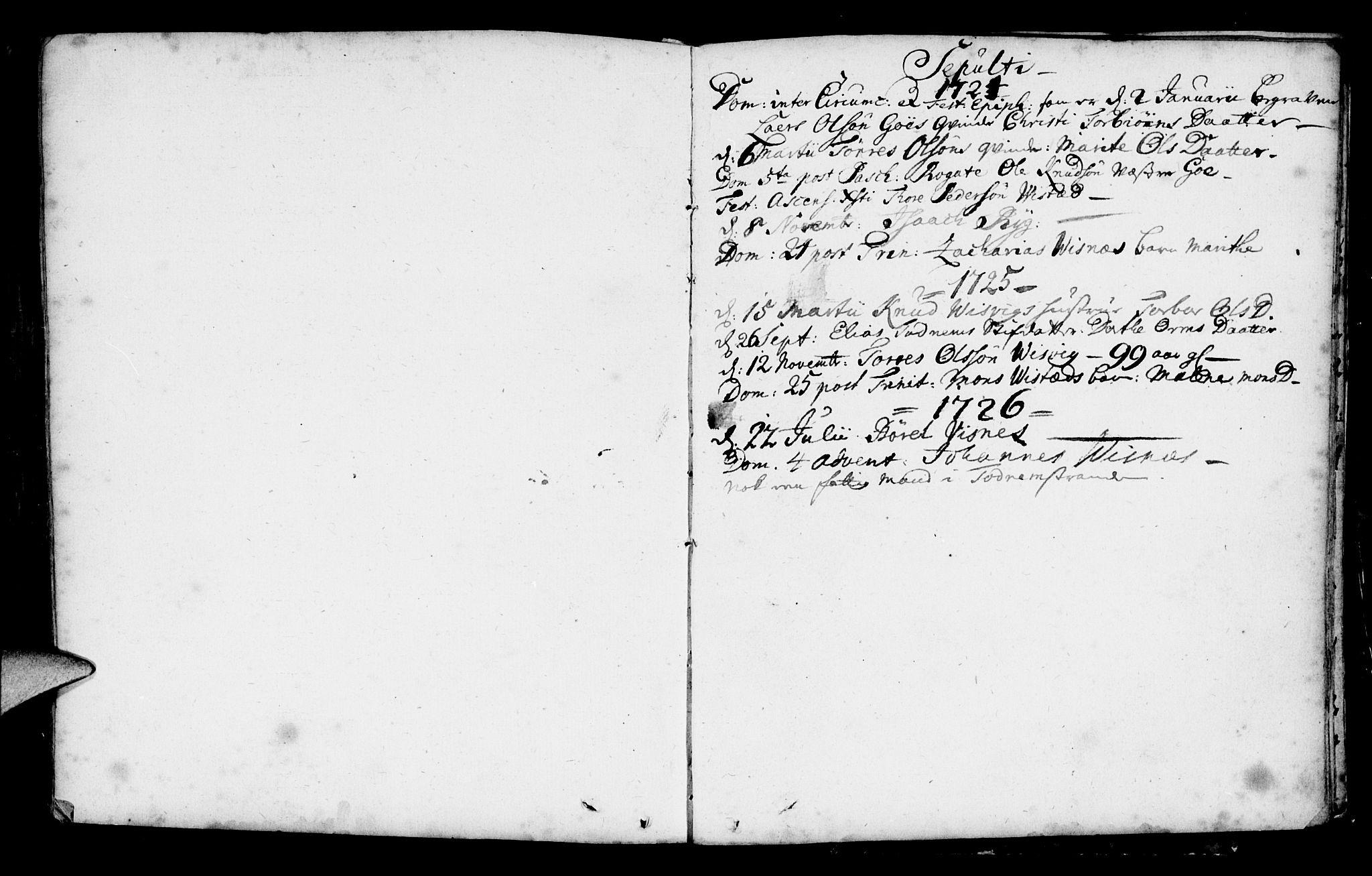 SAST, Domkirken sokneprestkontor, 30/30BA/L0001: Ministerialbok nr. A 1 /2, 1724-1726