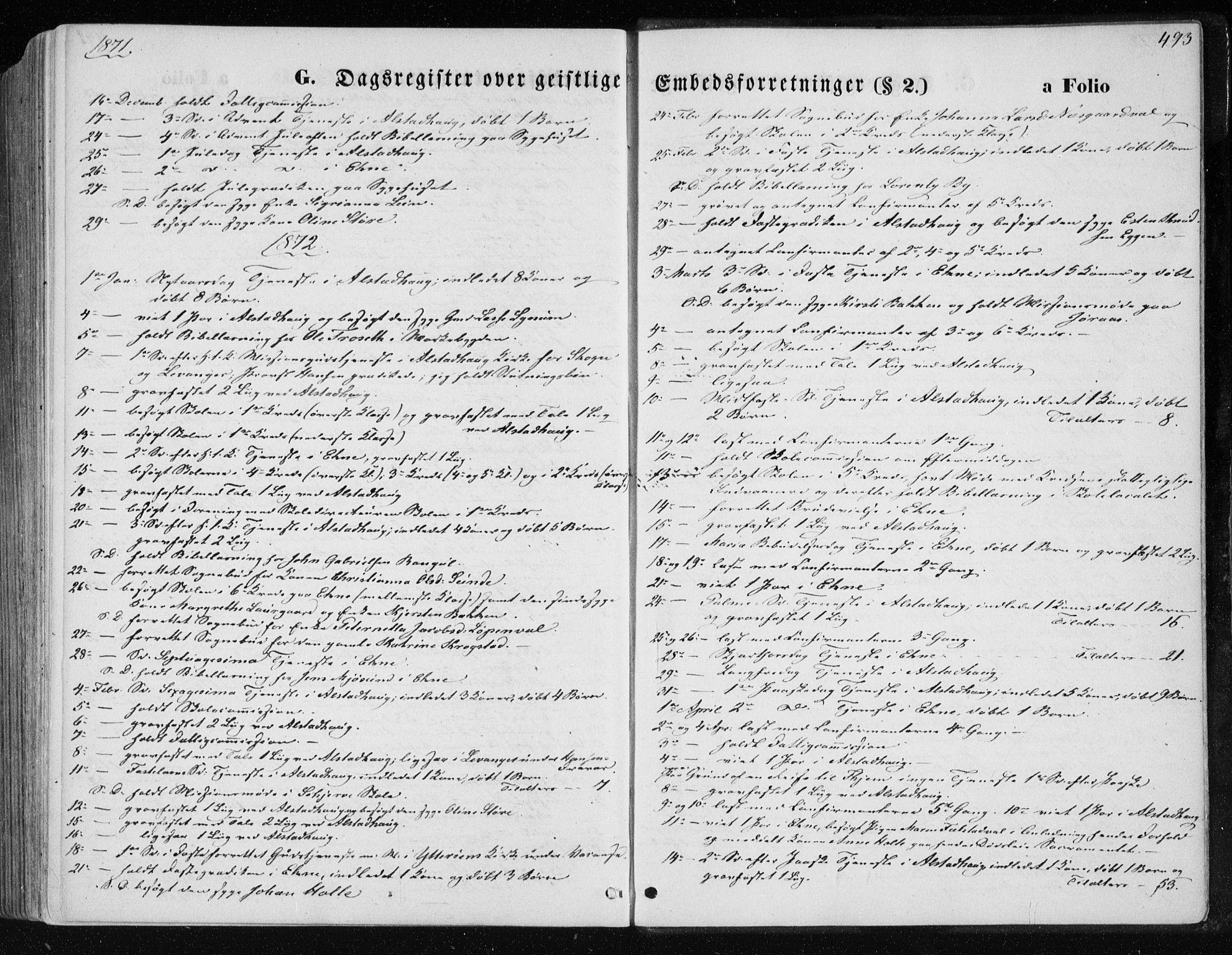 SAT, Ministerialprotokoller, klokkerbøker og fødselsregistre - Nord-Trøndelag, 717/L0157: Ministerialbok nr. 717A08 /1, 1863-1877, s. 493