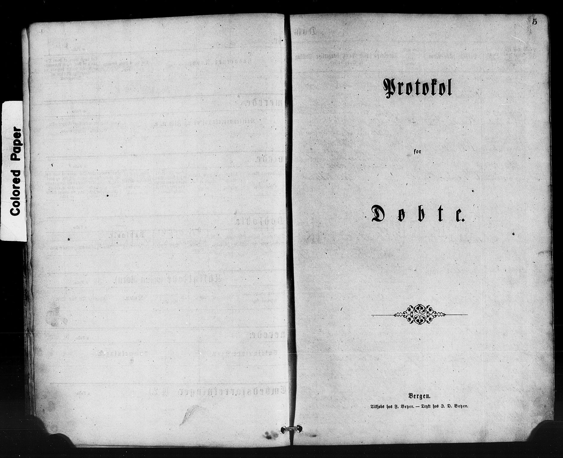 SAB, Lavik Sokneprestembete, Klokkerbok nr. B 2, 1870-1881, s. 5