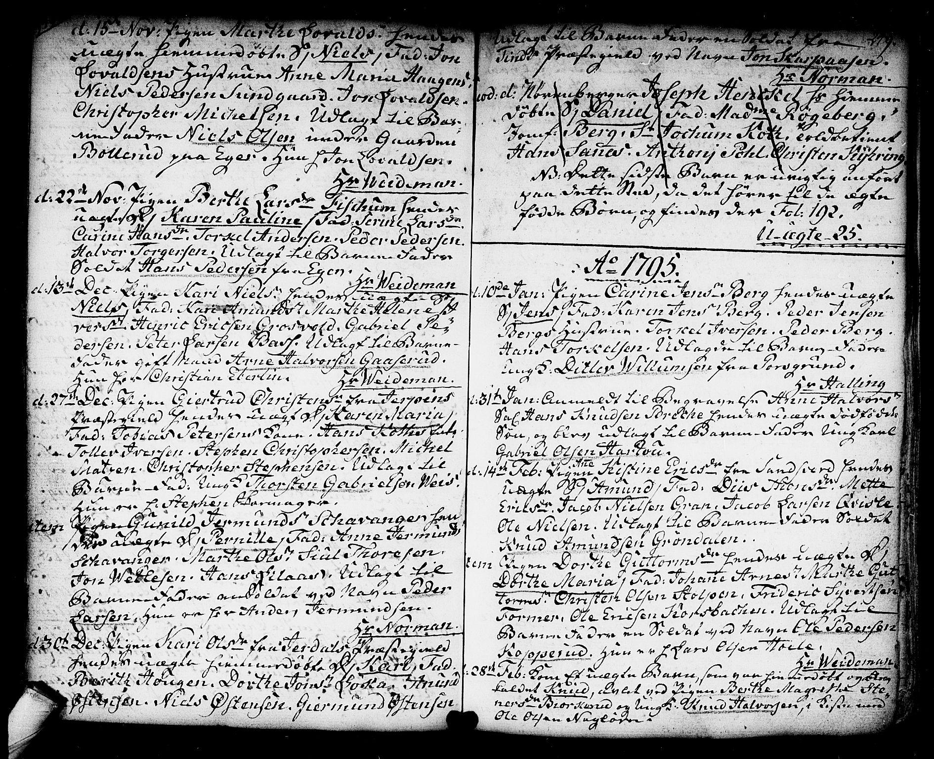 SAKO, Kongsberg kirkebøker, F/Fa/L0006: Ministerialbok nr. I 6, 1783-1797, s. 249
