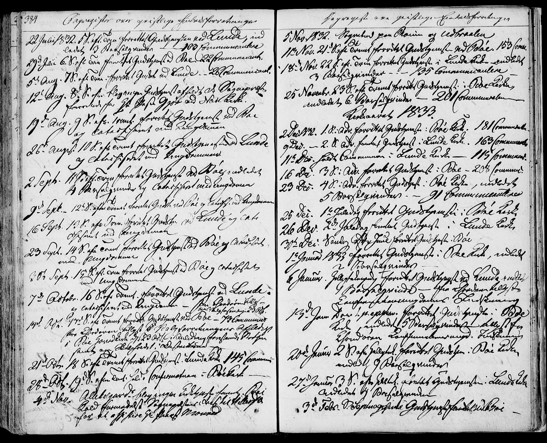 SAKO, Bø kirkebøker, F/Fa/L0007: Ministerialbok nr. 7, 1831-1848, s. 384