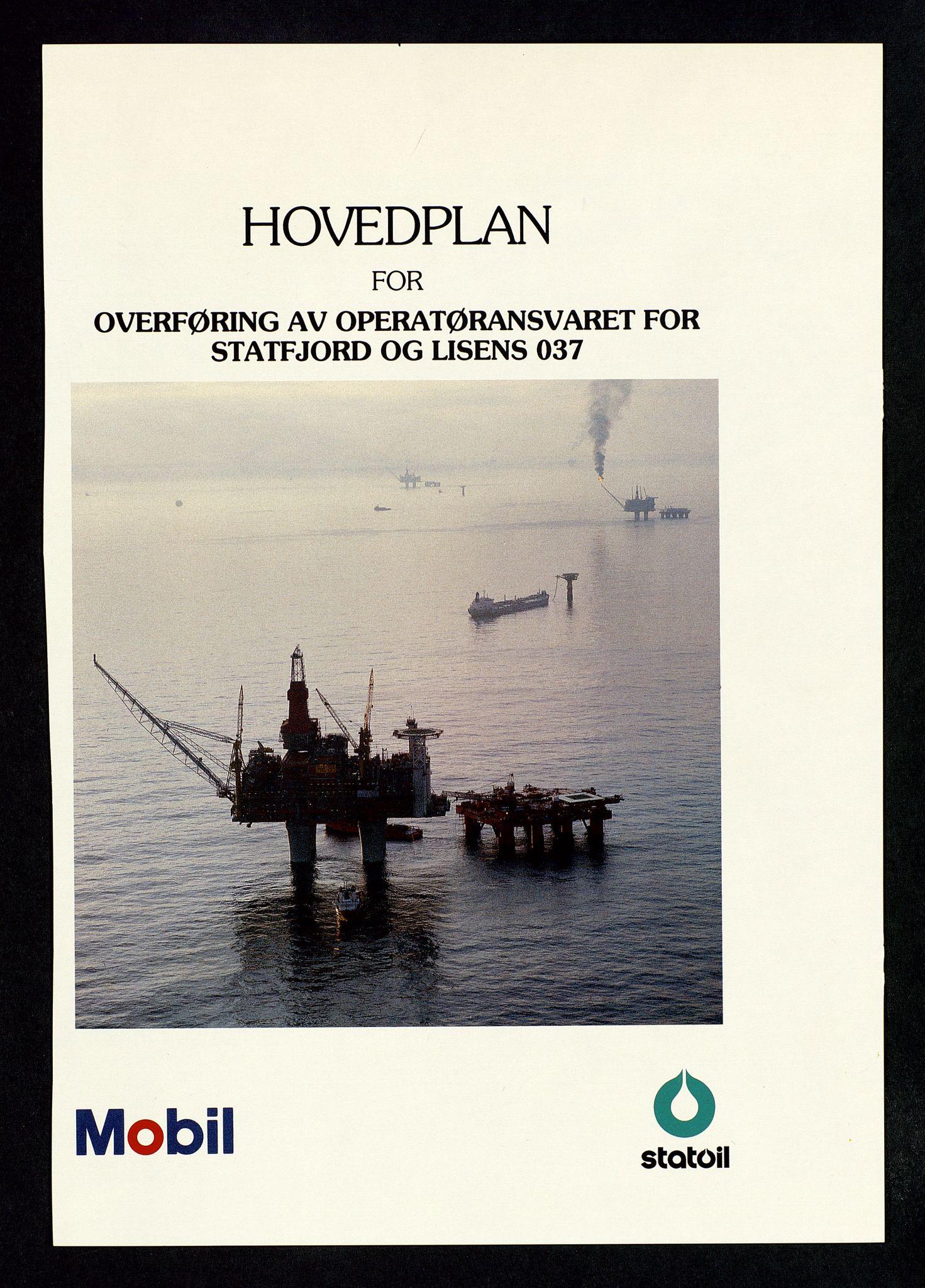 SAST, Pa 1339 - Statoil ASA, D/Dm/L0123: Rapporter, 1985-1988, s. 3
