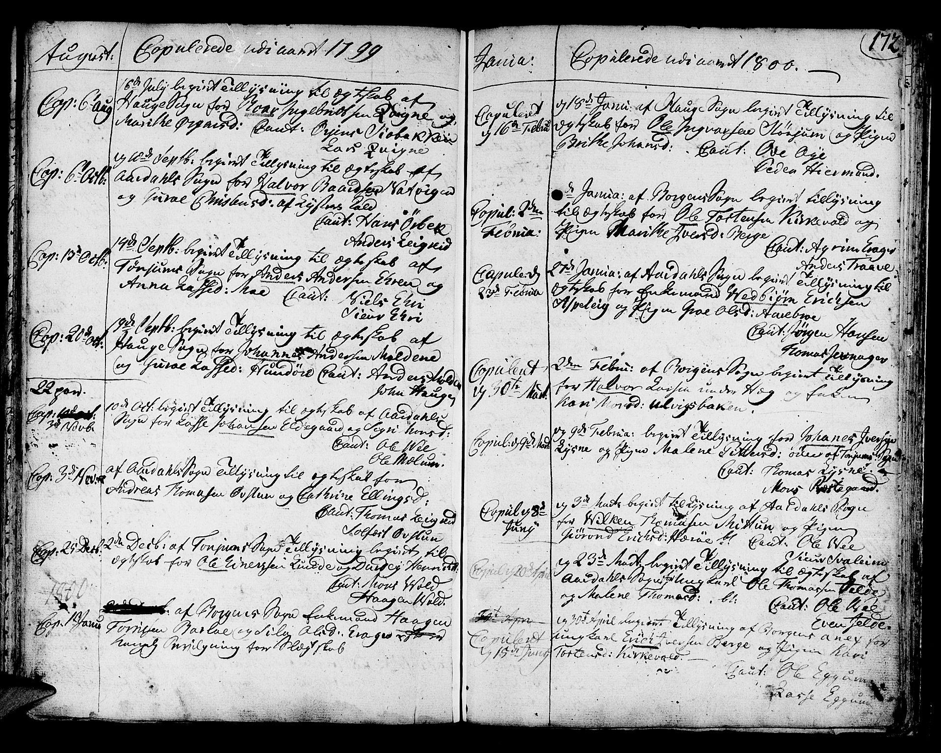 SAB, Lærdal Sokneprestembete, Ministerialbok nr. A 3, 1783-1804, s. 172