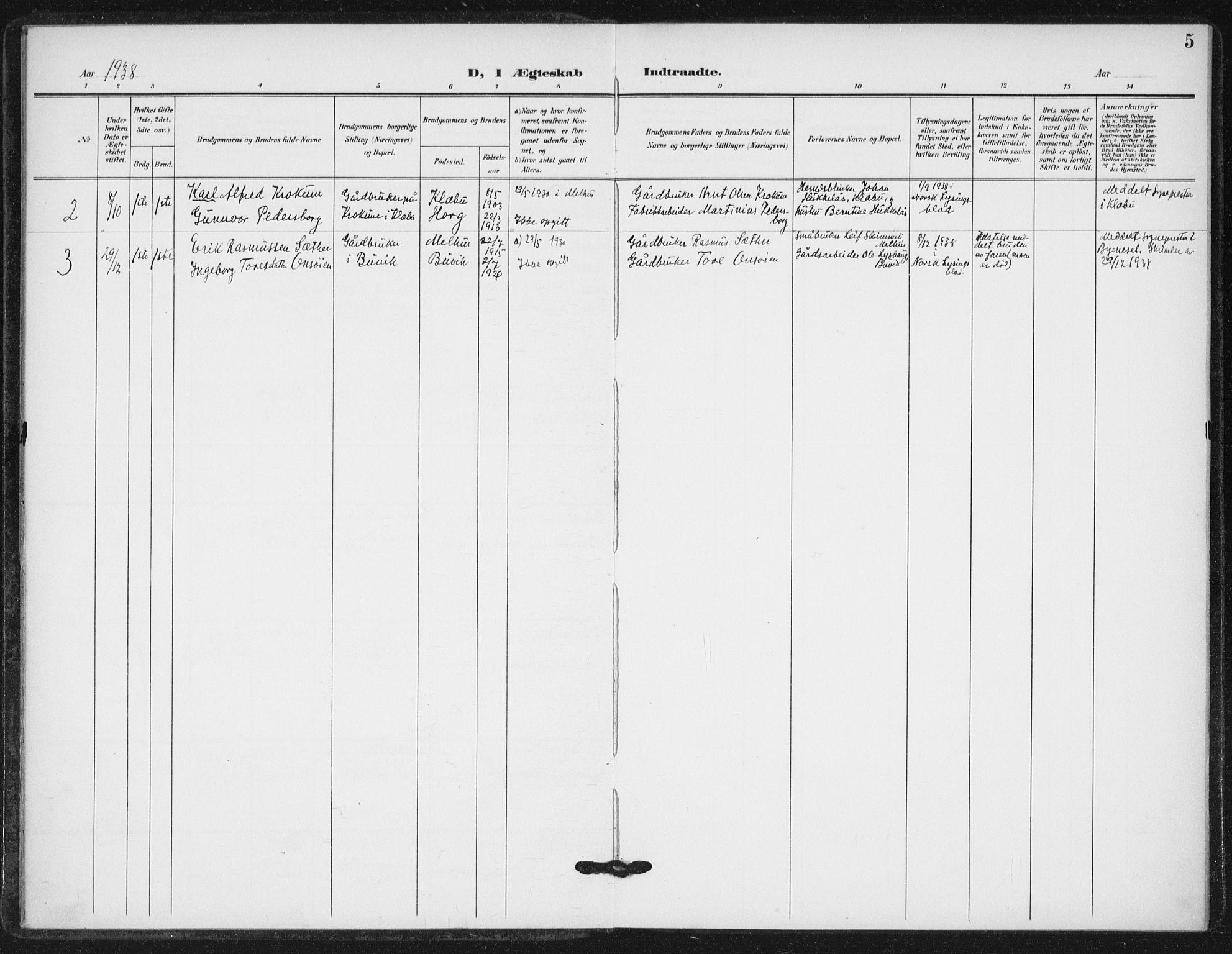 SAT, Ministerialprotokoller, klokkerbøker og fødselsregistre - Sør-Trøndelag, 623/L0472: Ministerialbok nr. 623A06, 1907-1938, s. 5