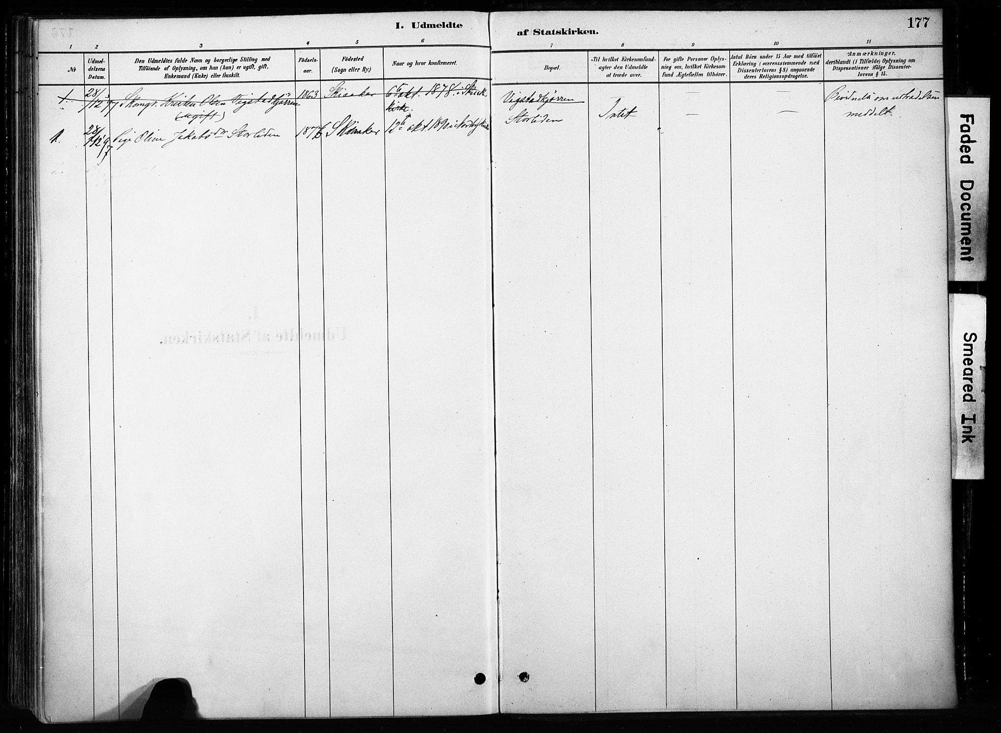 SAH, Skjåk prestekontor, Ministerialbok nr. 4, 1880-1904, s. 177