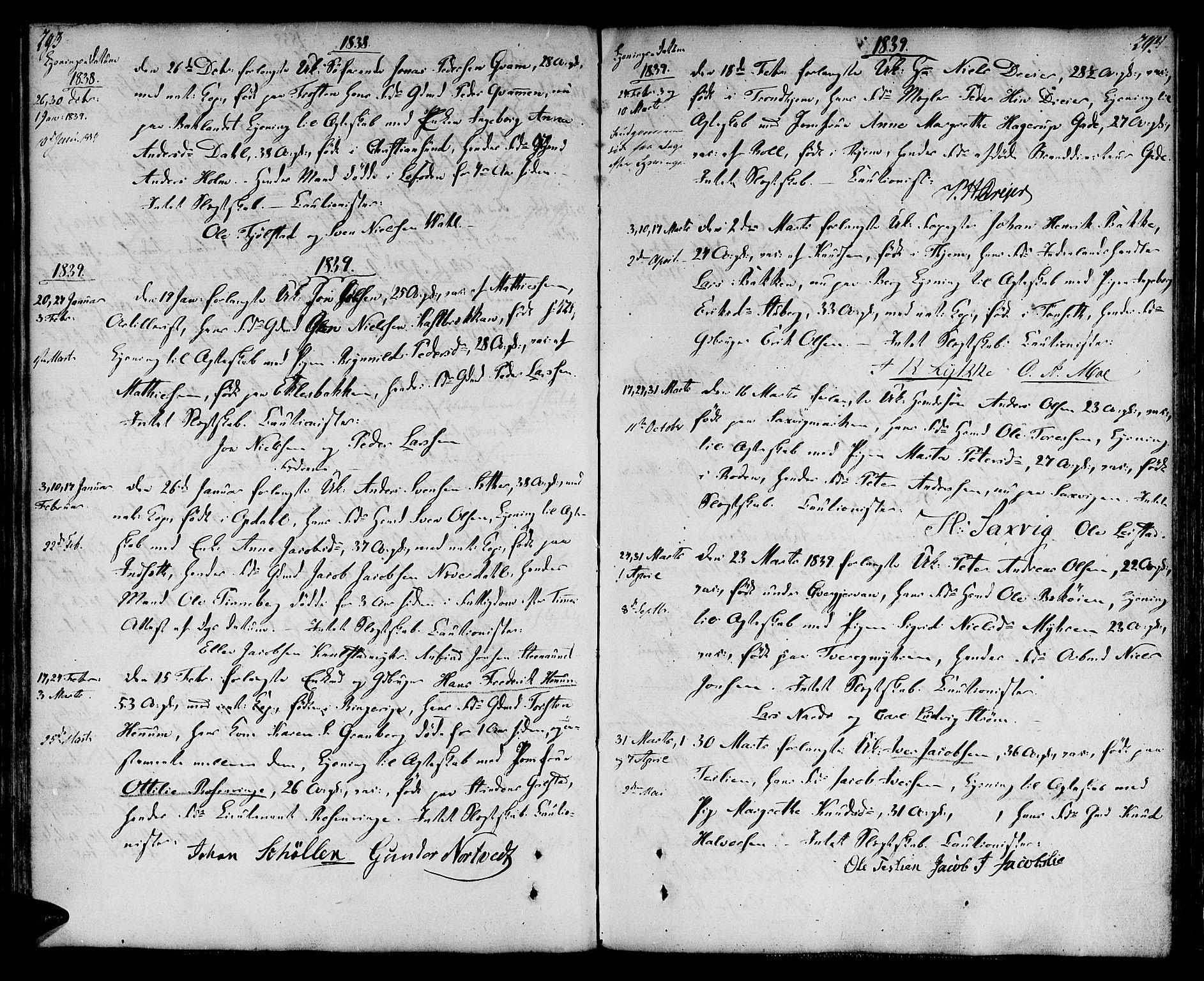 SAT, Ministerialprotokoller, klokkerbøker og fødselsregistre - Sør-Trøndelag, 604/L0181: Ministerialbok nr. 604A02, 1798-1817, s. 293-294