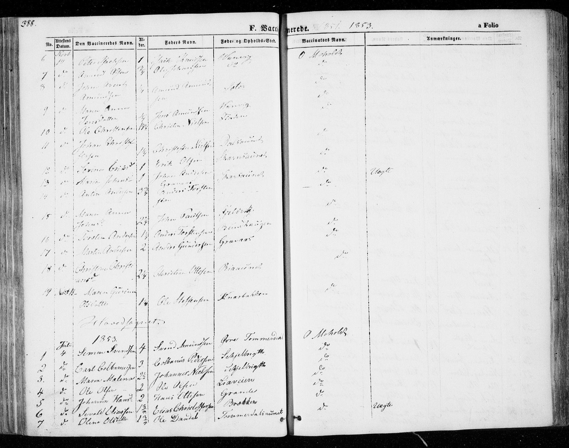 SAT, Ministerialprotokoller, klokkerbøker og fødselsregistre - Nord-Trøndelag, 701/L0007: Ministerialbok nr. 701A07 /1, 1842-1854, s. 388