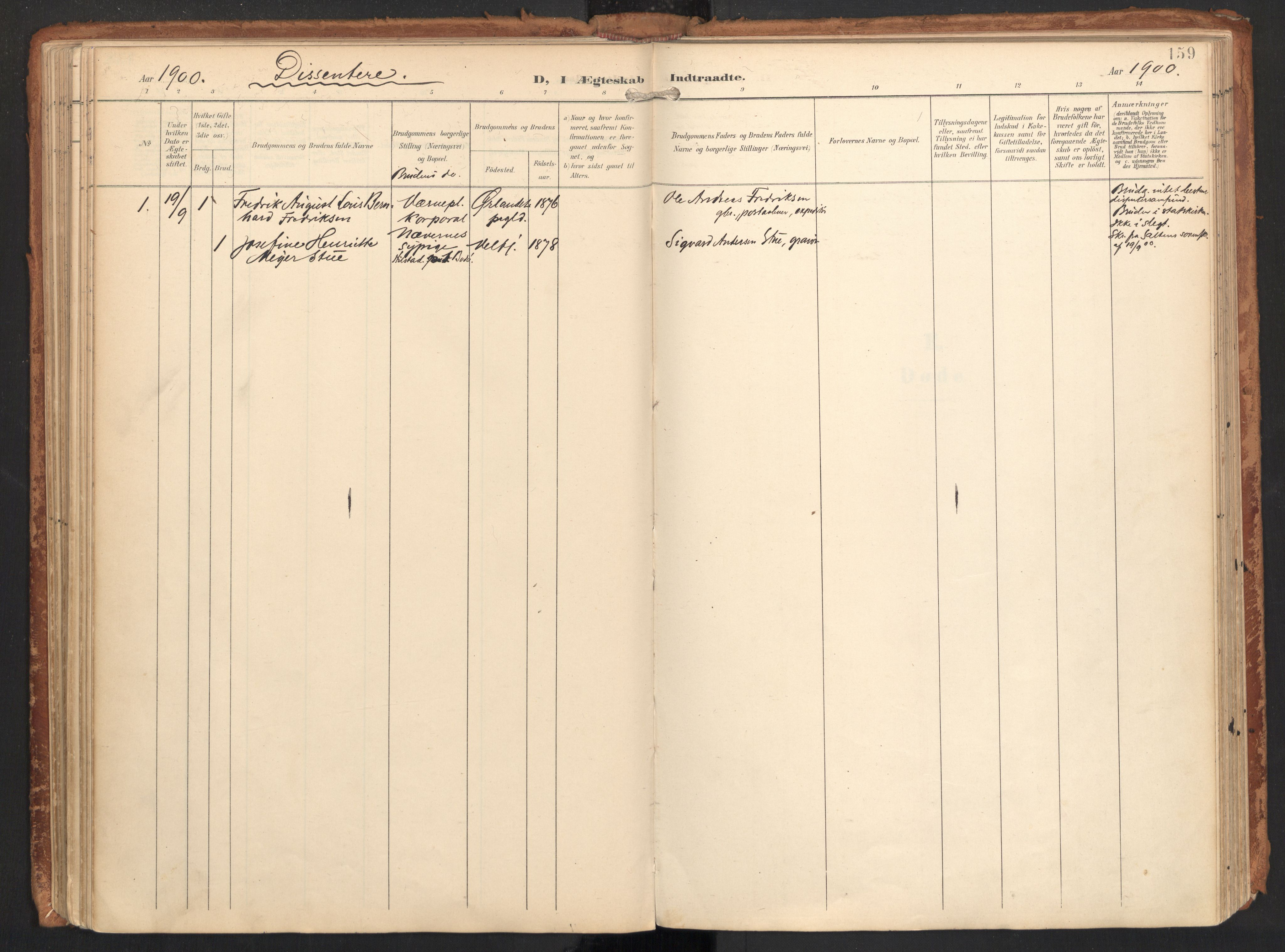 SAT, Ministerialprotokoller, klokkerbøker og fødselsregistre - Nordland, 814/L0227: Ministerialbok nr. 814A08, 1899-1920, s. 159