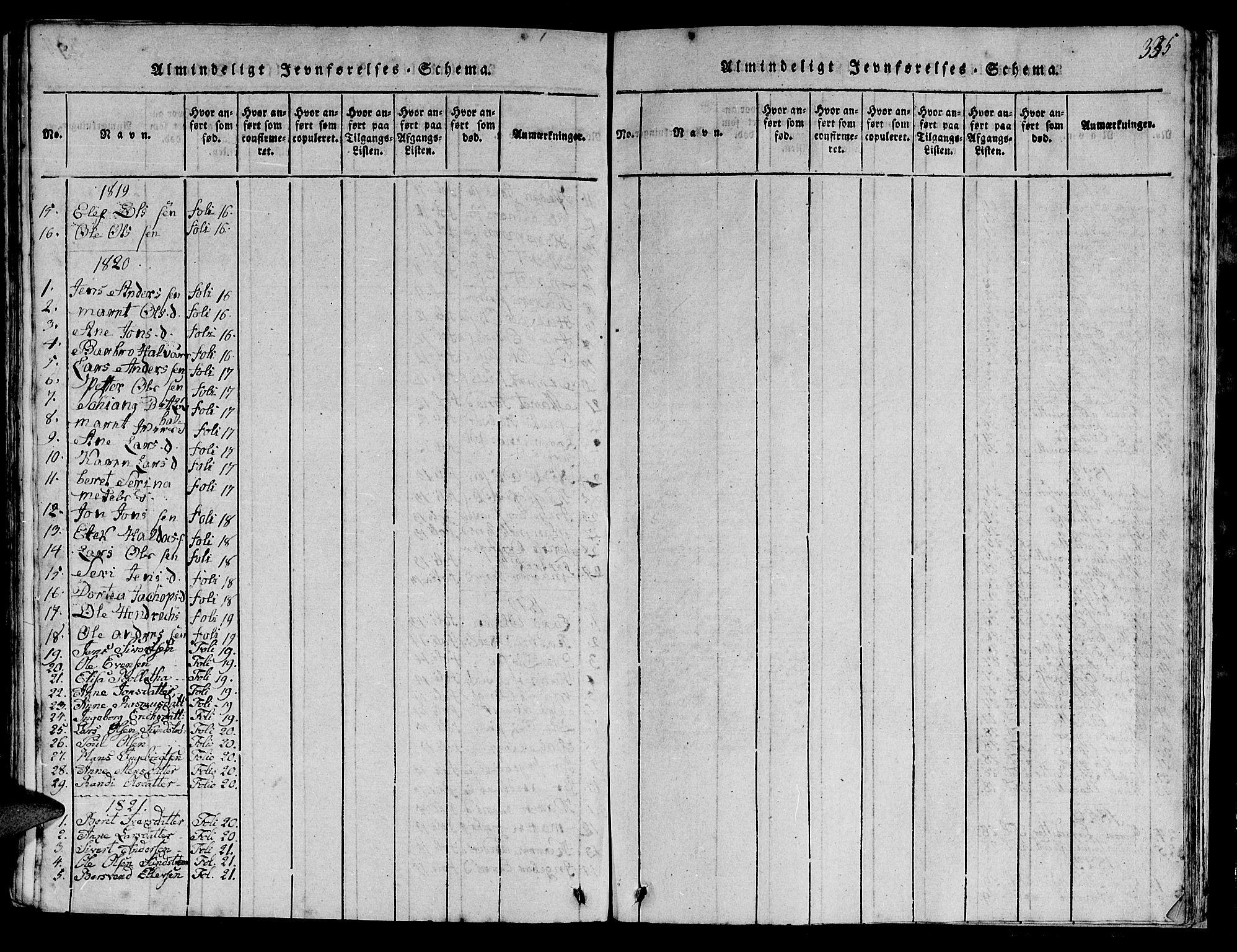 SAT, Ministerialprotokoller, klokkerbøker og fødselsregistre - Sør-Trøndelag, 613/L0393: Klokkerbok nr. 613C01, 1816-1886, s. 385