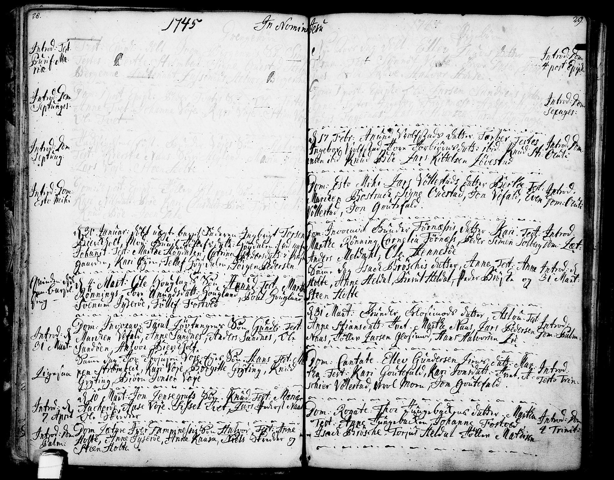 SAKO, Drangedal kirkebøker, F/Fa/L0001: Ministerialbok nr. 1, 1697-1767, s. 28-29
