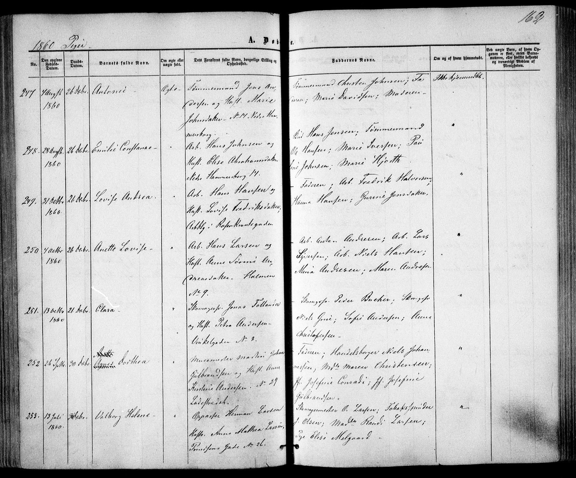 SAO, Trefoldighet prestekontor Kirkebøker, F/Fa/L0001: Ministerialbok nr. I 1, 1858-1863, s. 162