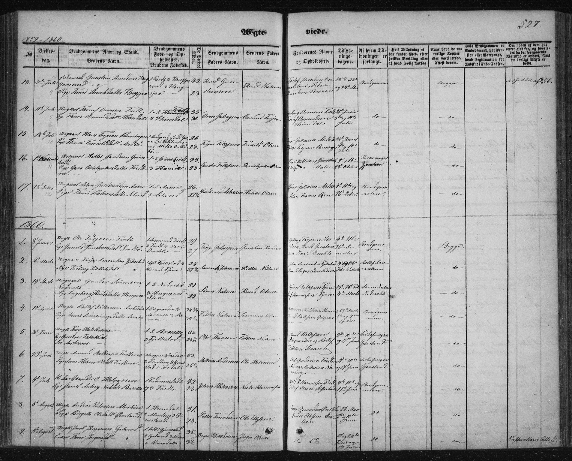 SAKO, Nissedal kirkebøker, F/Fa/L0003: Ministerialbok nr. I 3, 1846-1870, s. 526-527