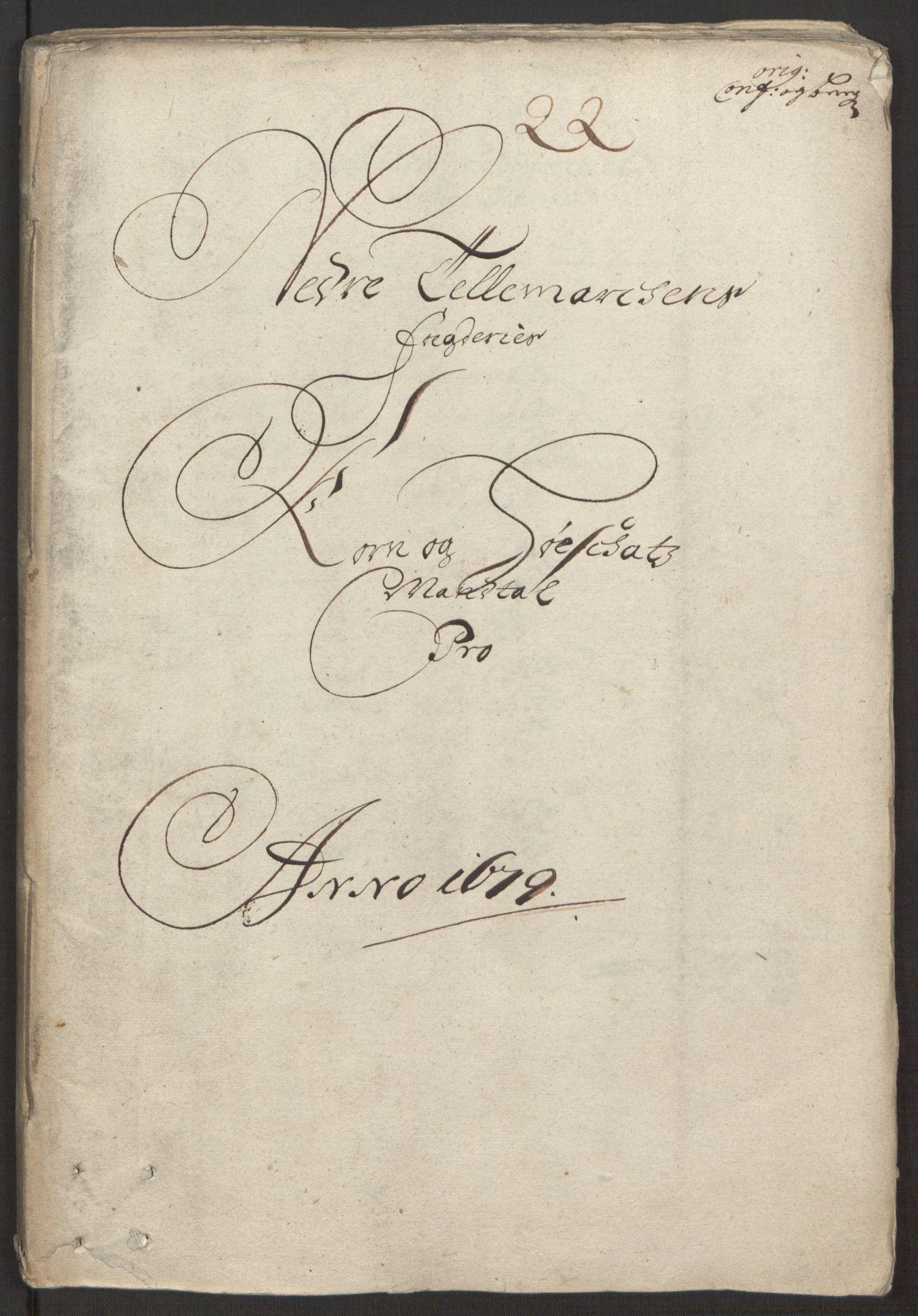 RA, Rentekammeret inntil 1814, Reviderte regnskaper, Fogderegnskap, R35/L2072: Fogderegnskap Øvre og Nedre Telemark, 1679, s. 176