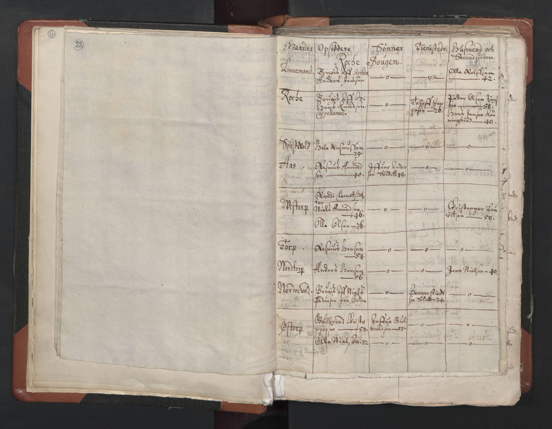 RA, Sogneprestenes manntall 1664-1666, nr. 1: Nedre Borgesyssel prosti, 1664-1666, s. 22-23