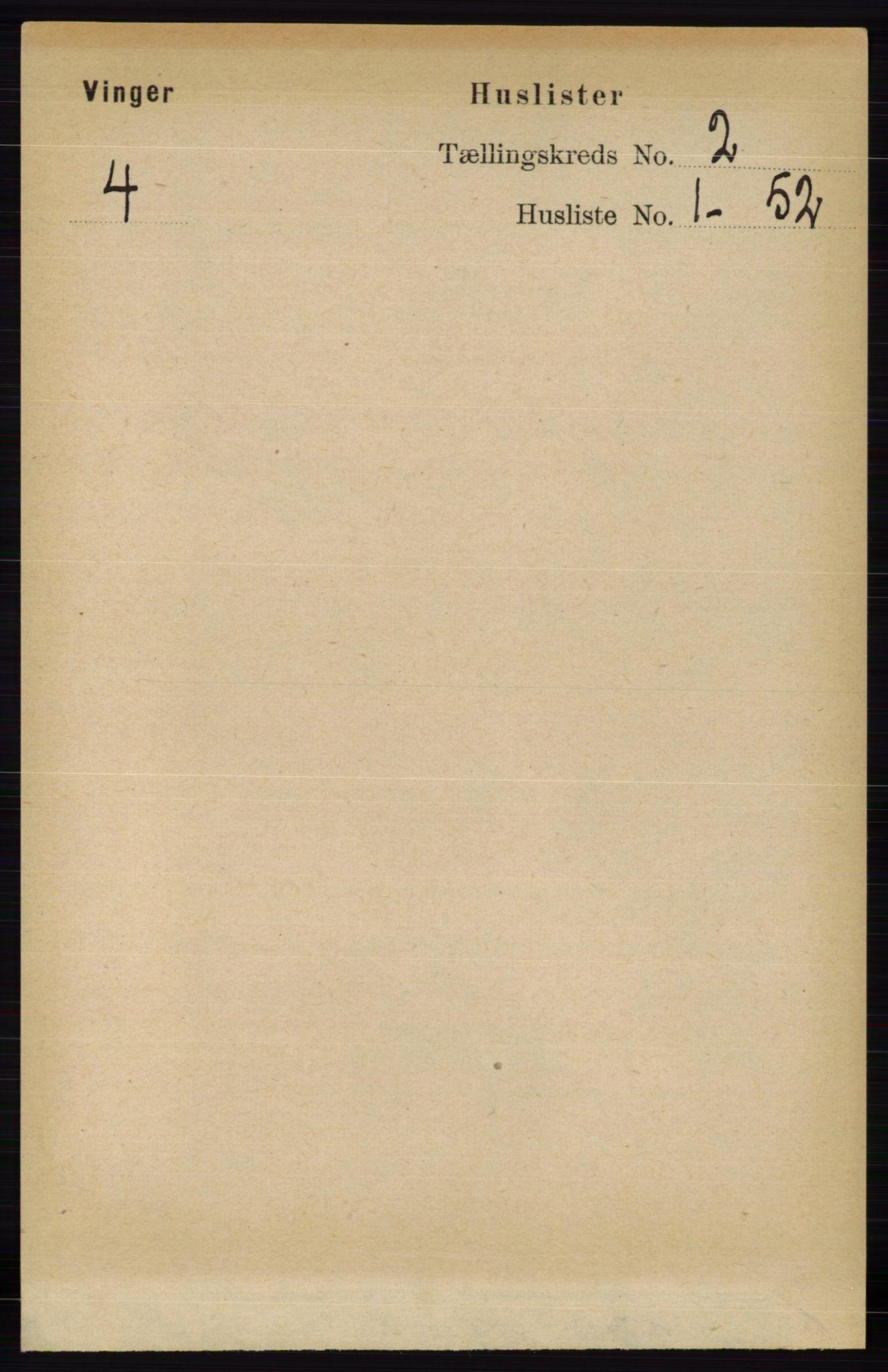 RA, Folketelling 1891 for 0421 Vinger herred, 1891, s. 396