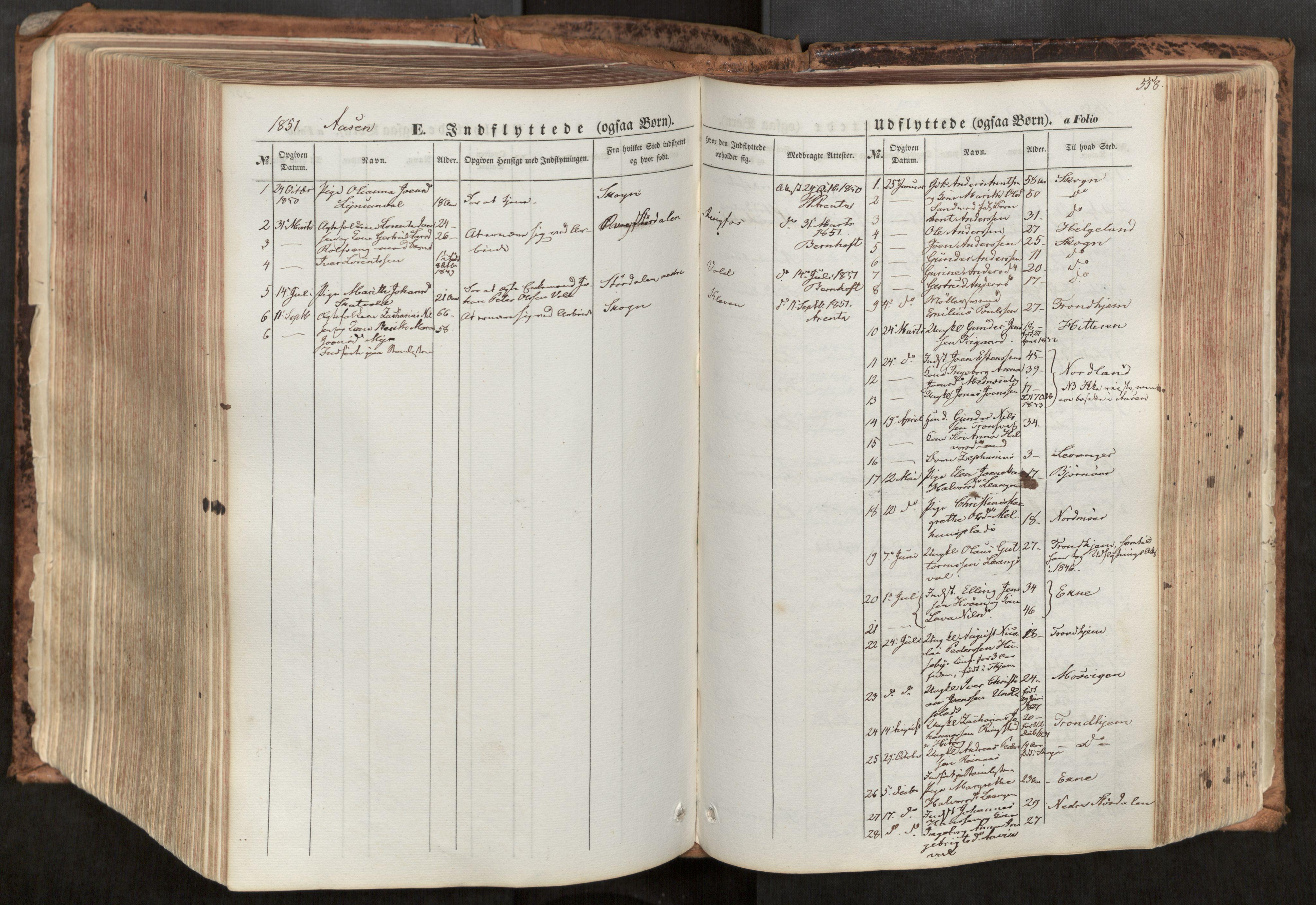 SAT, Ministerialprotokoller, klokkerbøker og fødselsregistre - Nord-Trøndelag, 713/L0116: Ministerialbok nr. 713A07, 1850-1877, s. 558