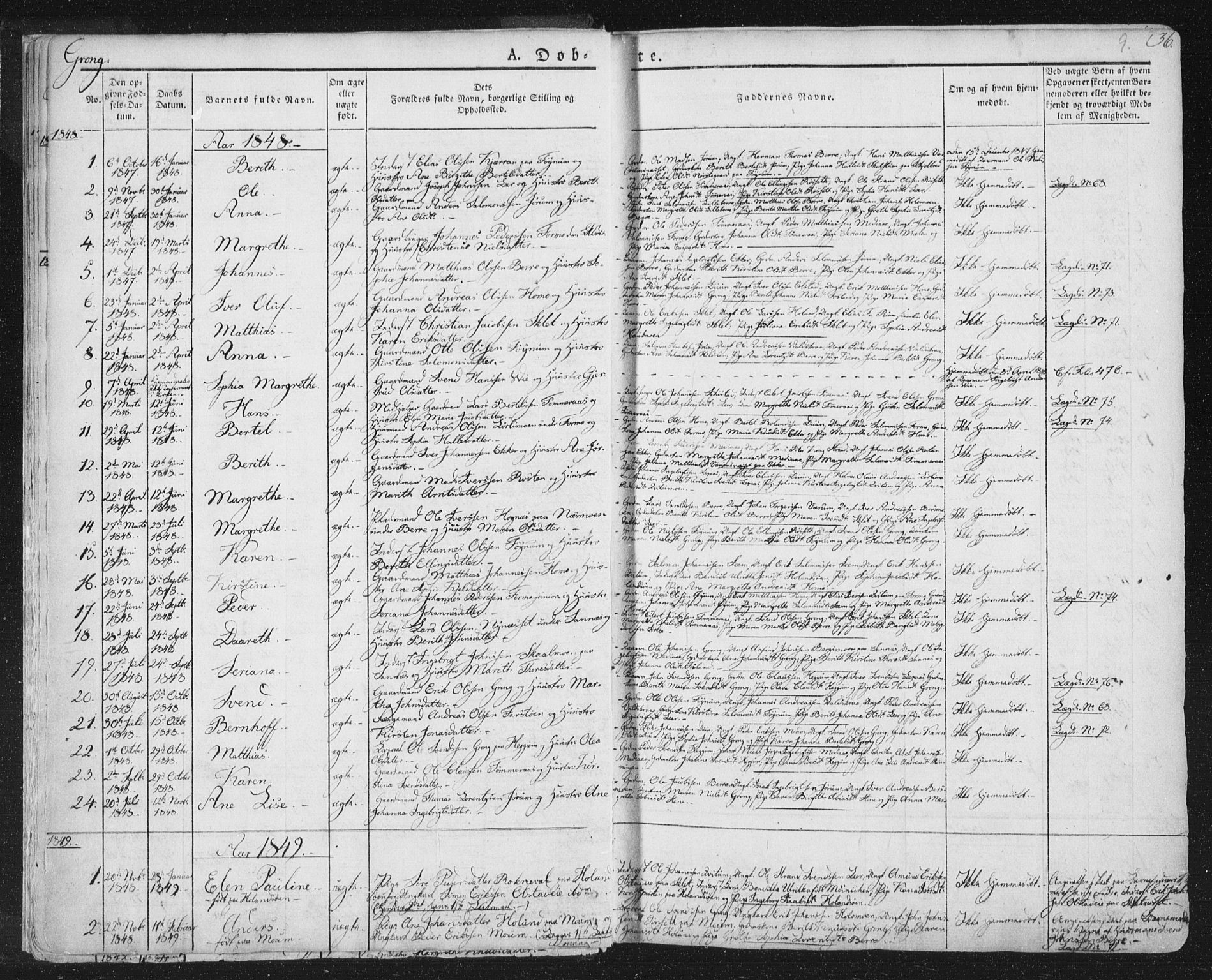 SAT, Ministerialprotokoller, klokkerbøker og fødselsregistre - Nord-Trøndelag, 758/L0513: Ministerialbok nr. 758A02 /1, 1839-1868, s. 9
