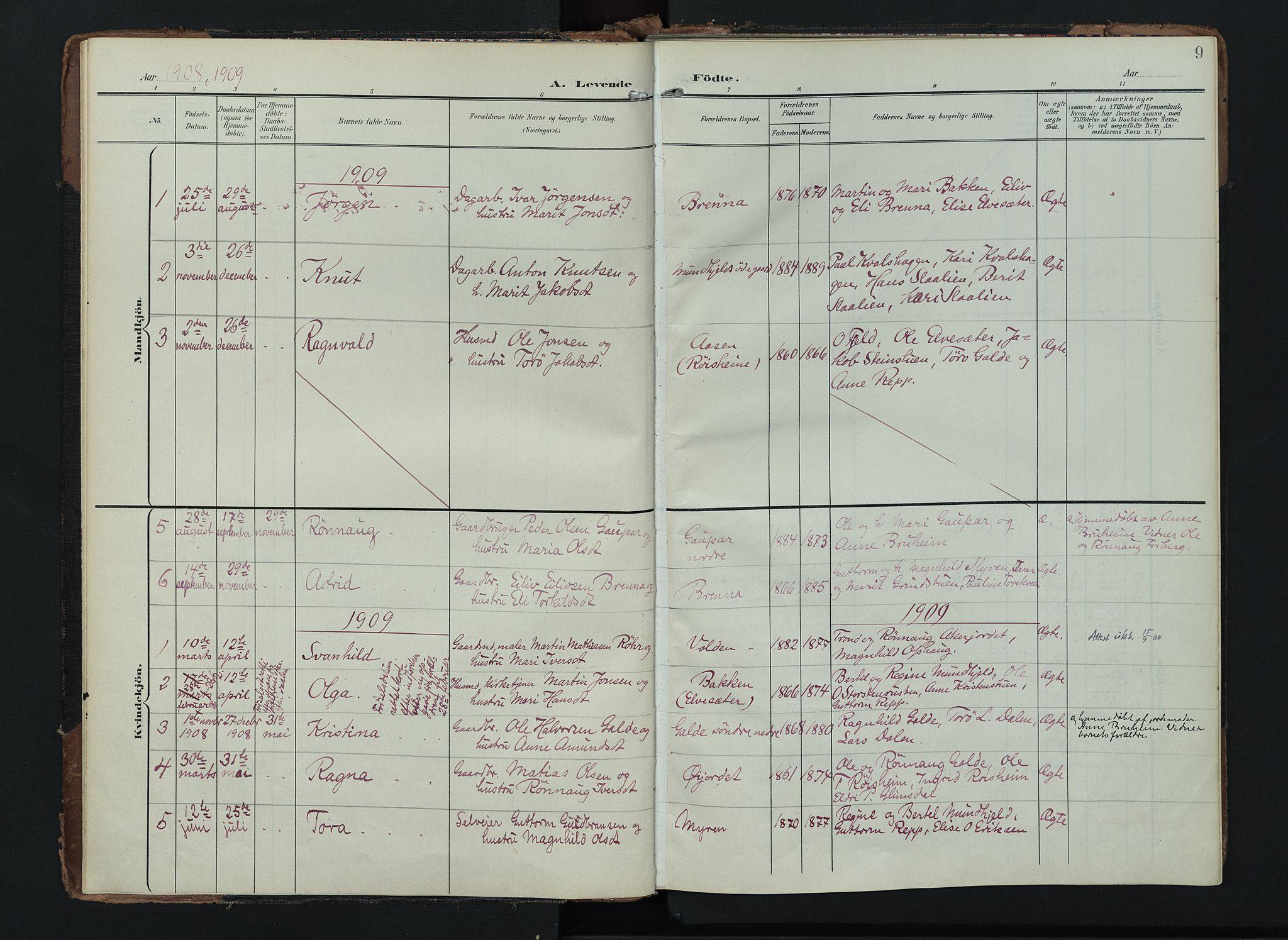 SAH, Lom prestekontor, K/L0012: Ministerialbok nr. 12, 1904-1928, s. 9