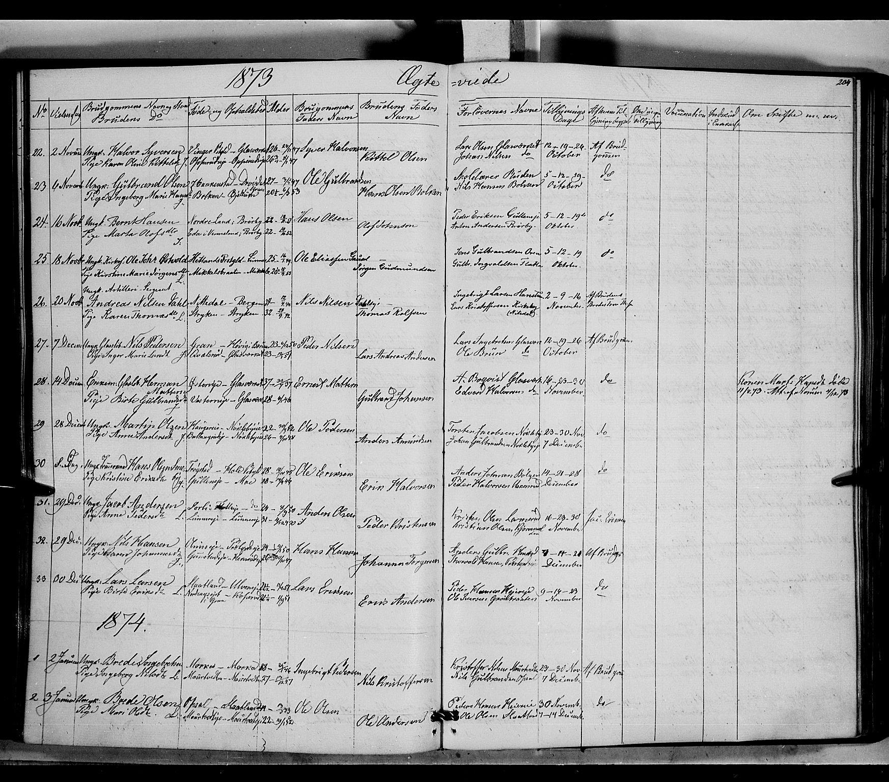 SAH, Jevnaker prestekontor, Ministerialbok nr. 7, 1858-1876, s. 204
