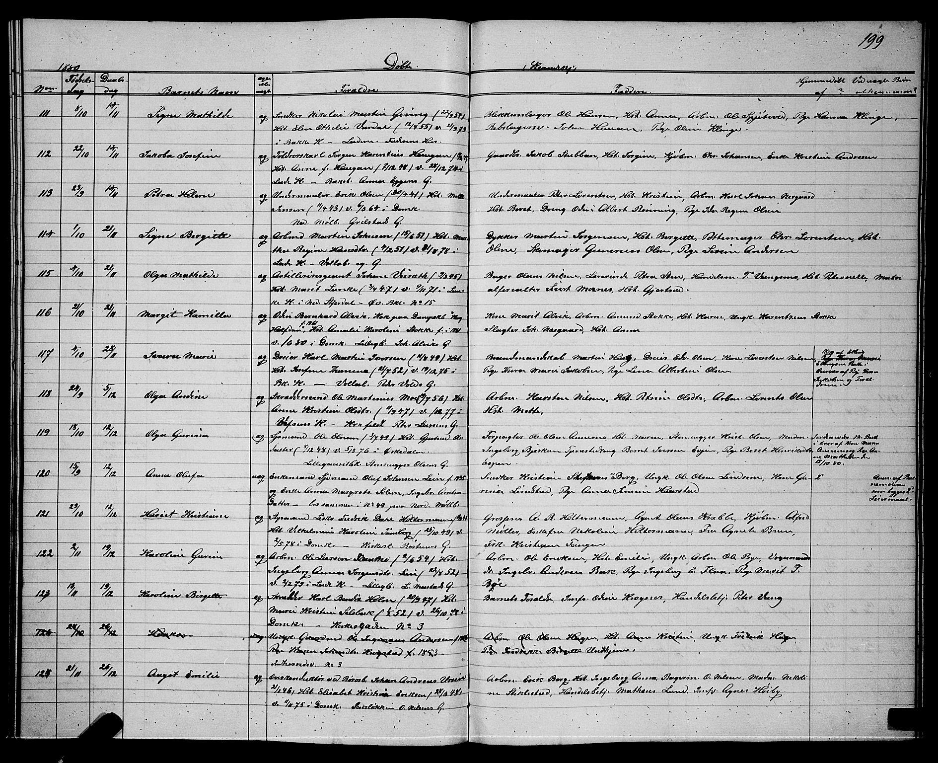 SAT, Ministerialprotokoller, klokkerbøker og fødselsregistre - Sør-Trøndelag, 604/L0220: Klokkerbok nr. 604C03, 1870-1885, s. 199