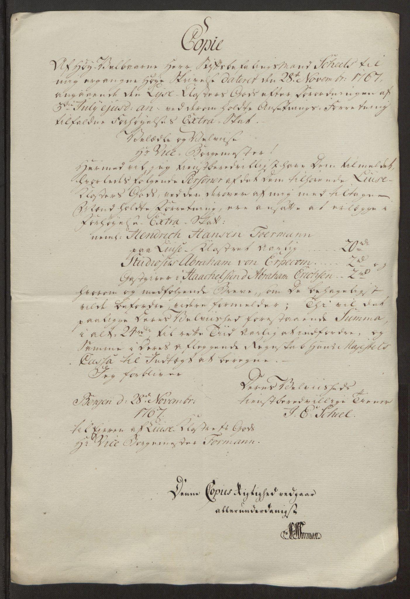 RA, Rentekammeret inntil 1814, Reviderte regnskaper, Fogderegnskap, R50/L3180: Ekstraskatten Lyse kloster, 1762-1783, s. 276