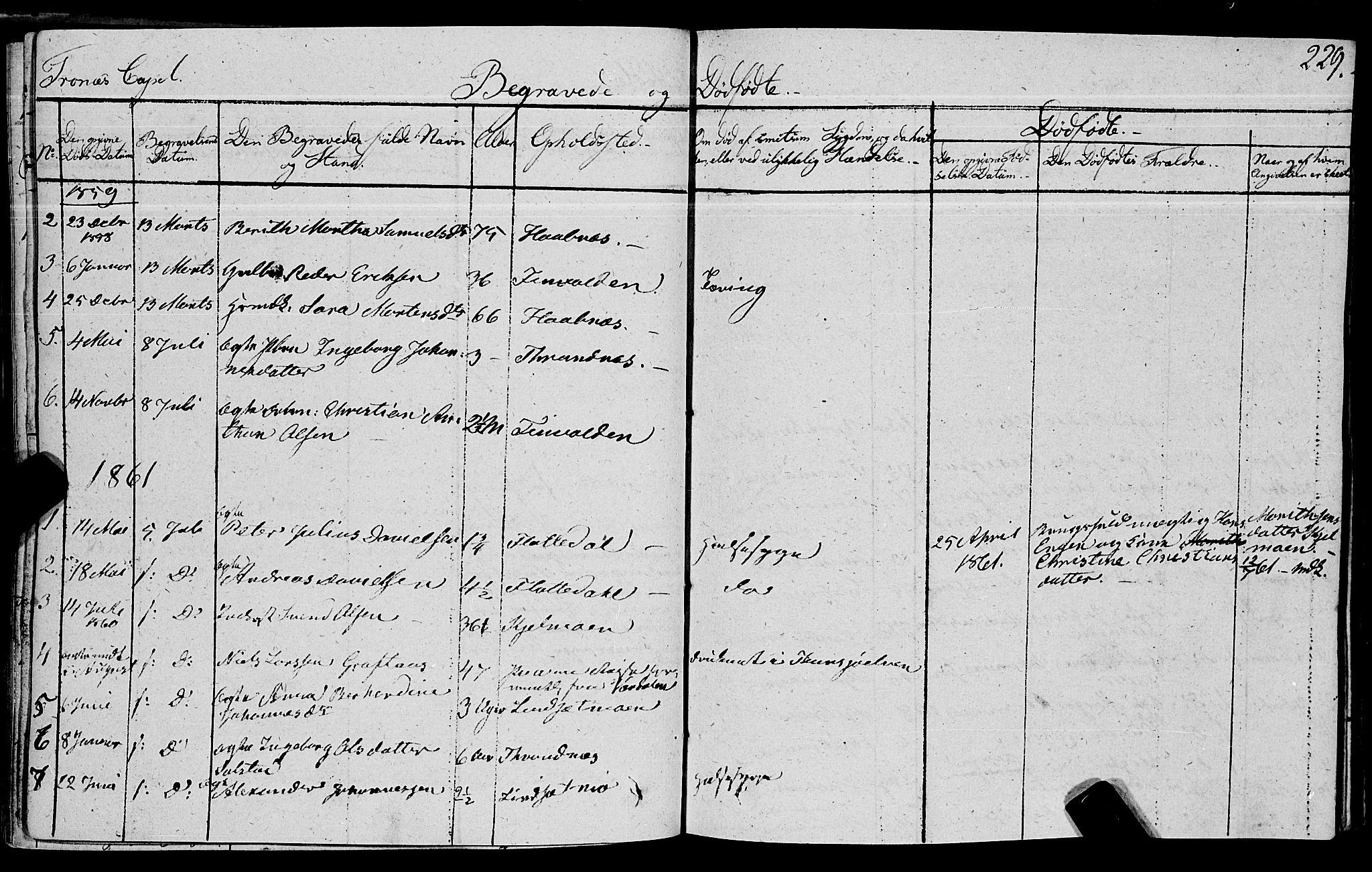 SAT, Ministerialprotokoller, klokkerbøker og fødselsregistre - Nord-Trøndelag, 762/L0538: Ministerialbok nr. 762A02 /2, 1833-1879, s. 229