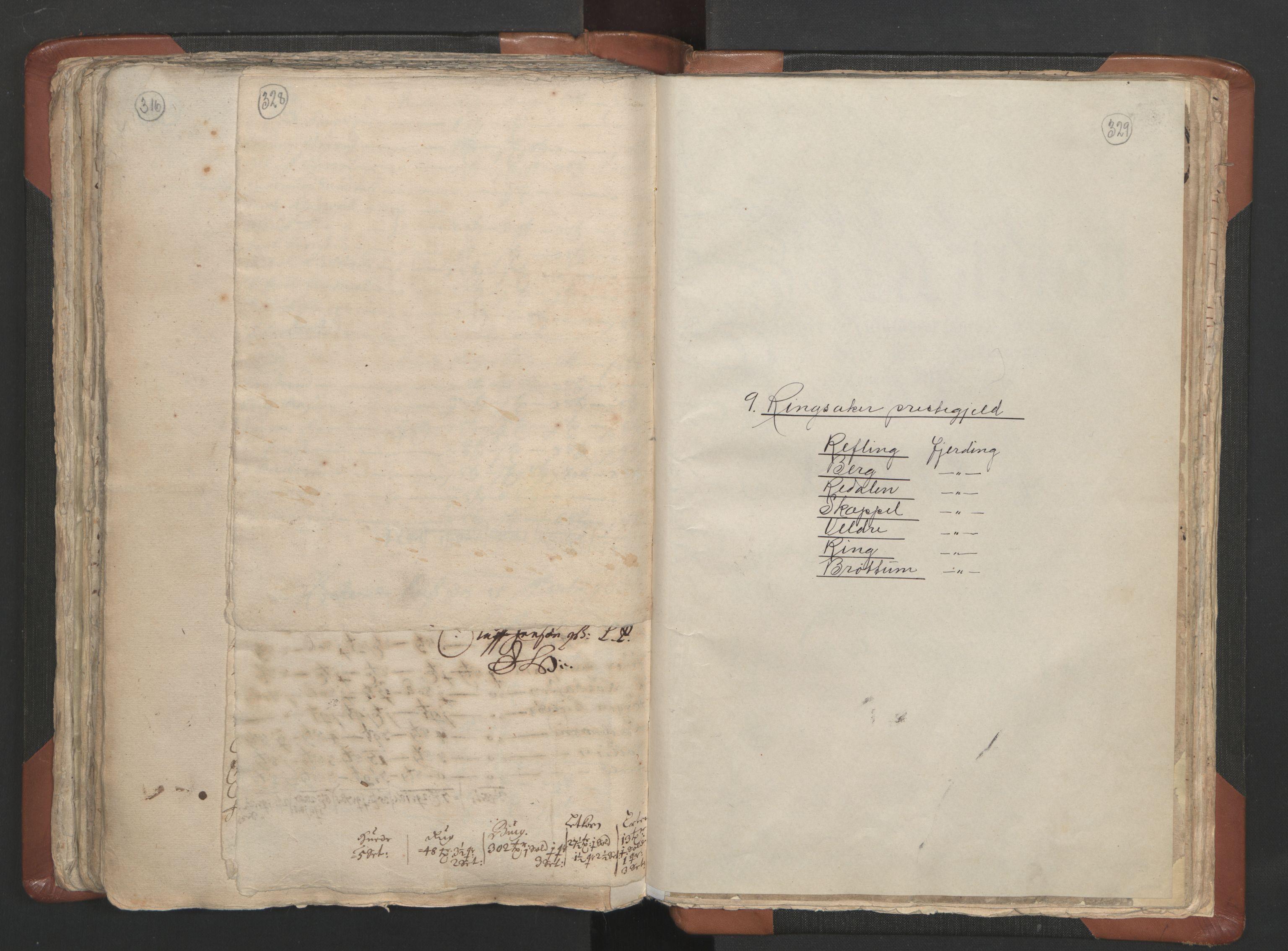 RA, Sogneprestenes manntall 1664-1666, nr. 5: Hedmark prosti, 1664-1666, s. 328-329