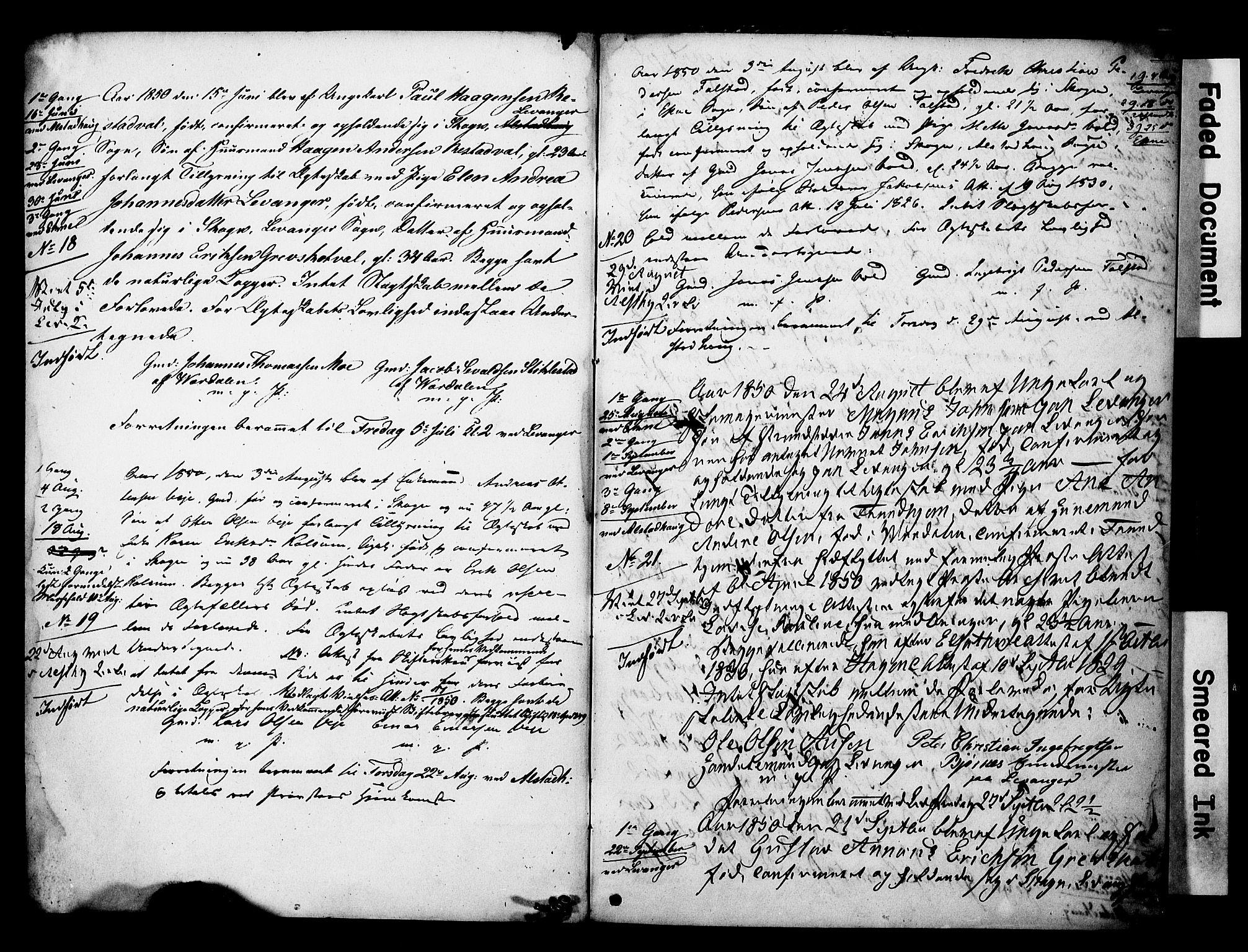 SAT, Ministerialprotokoller, klokkerbøker og fødselsregistre - Nord-Trøndelag, 717/L0161: Forlovererklæringer nr. 717A11, 1850-1895, s. 2