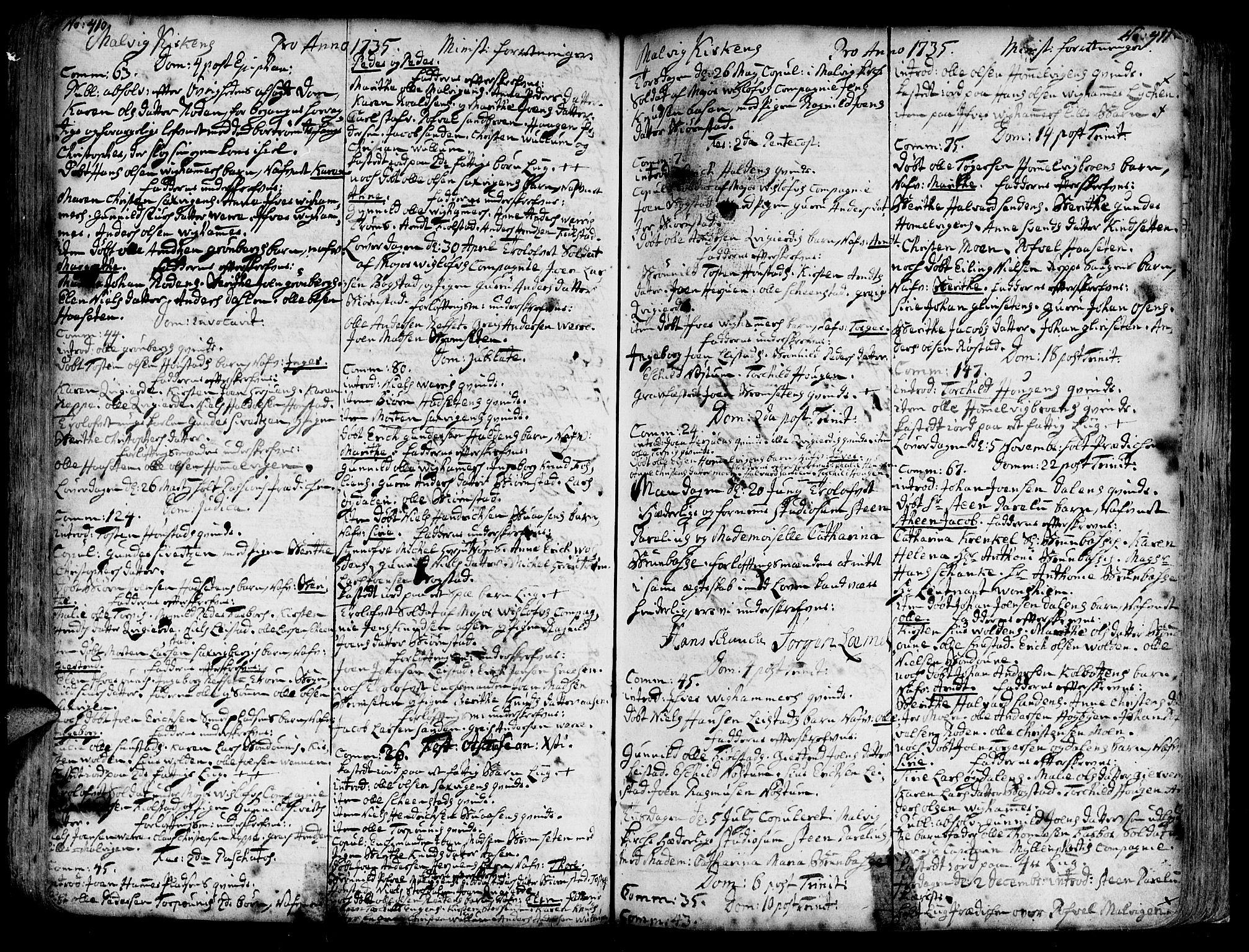 SAT, Ministerialprotokoller, klokkerbøker og fødselsregistre - Sør-Trøndelag, 606/L0277: Ministerialbok nr. 606A01 /3, 1727-1780, s. 410-411