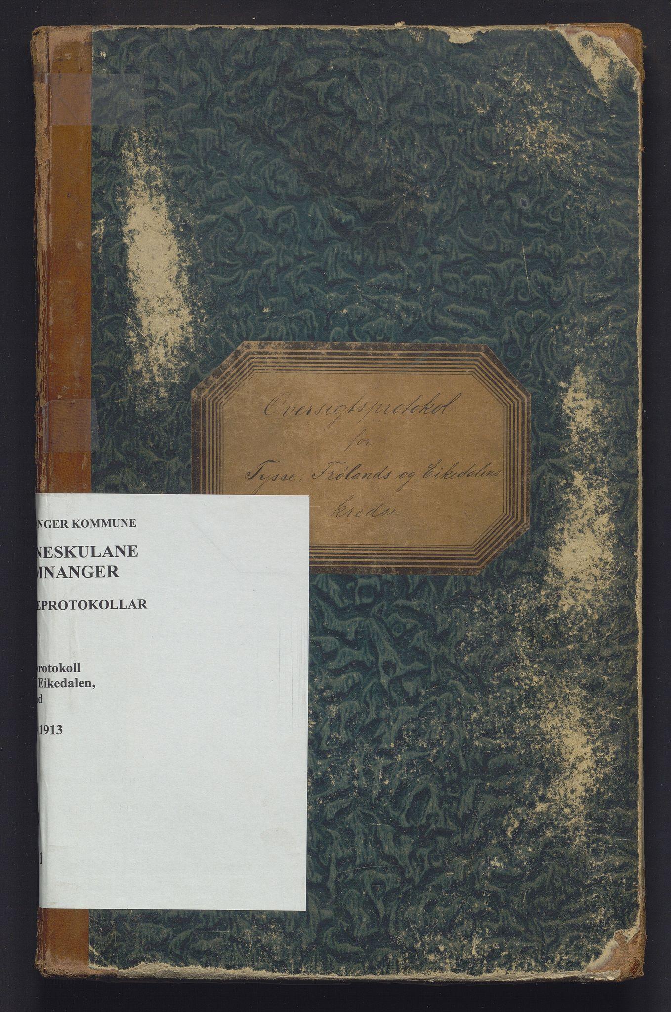 IKAH, Samnanger kommune. Barneskulane, F/Fa/L0011: Skuleprotokoll for læraren i Os prestegjeld, Samnanger sokn for krinsane, 1894-1913