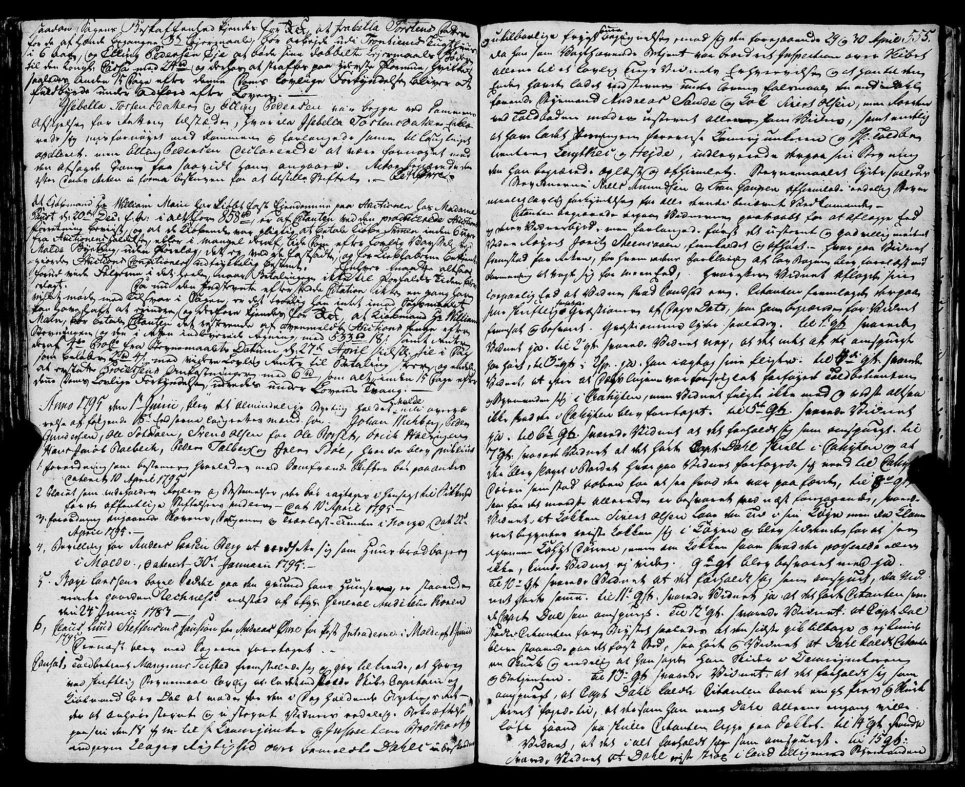 SAT, Molde byfogd, 1A/L0001: Justisprotokoll, 1764-1796, s. 556