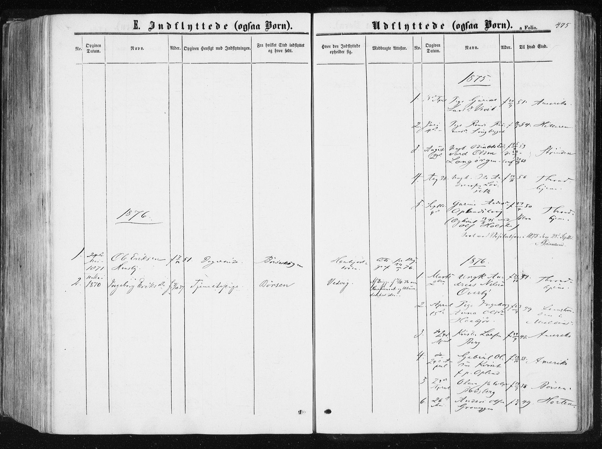 SAT, Ministerialprotokoller, klokkerbøker og fødselsregistre - Sør-Trøndelag, 612/L0377: Ministerialbok nr. 612A09, 1859-1877, s. 475