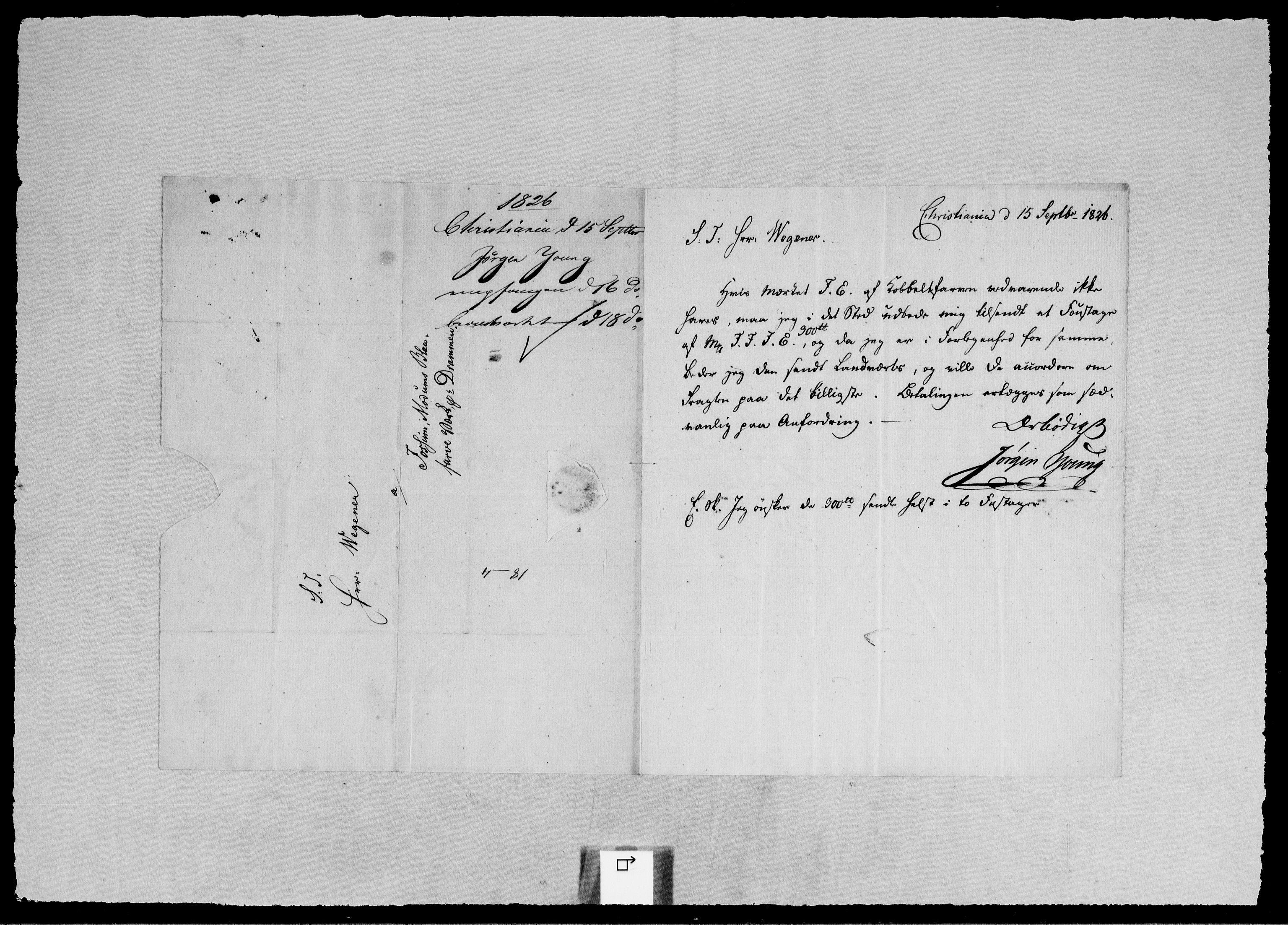 RA, Modums Blaafarveværk, G/Gb/L0098, 1826-1827, s. 2