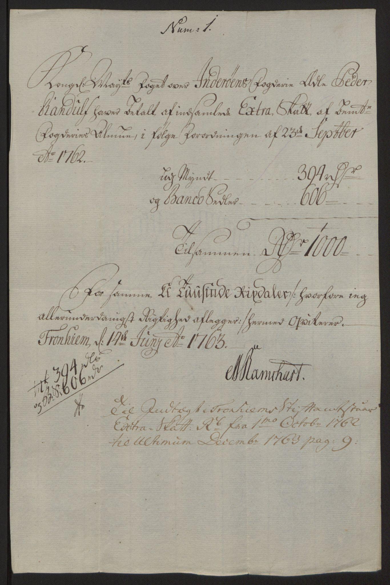 RA, Rentekammeret inntil 1814, Reviderte regnskaper, Fogderegnskap, R63/L4420: Ekstraskatten Inderøy, 1762-1772, s. 42
