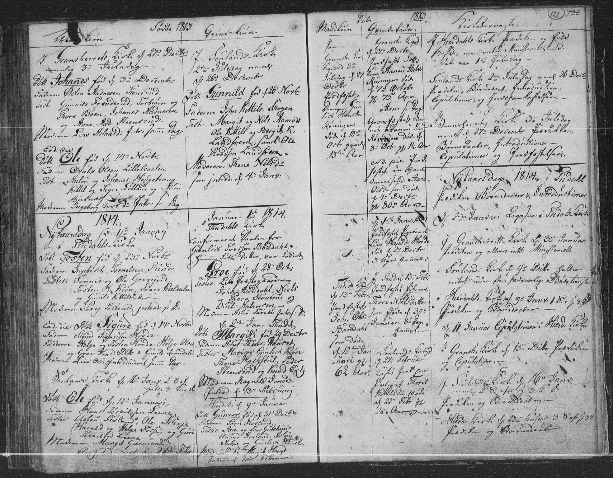 SAKO, Hjartdal kirkebøker, F/Fa/L0006: Ministerialbok nr. I 6, 1801-1814, s. 121
