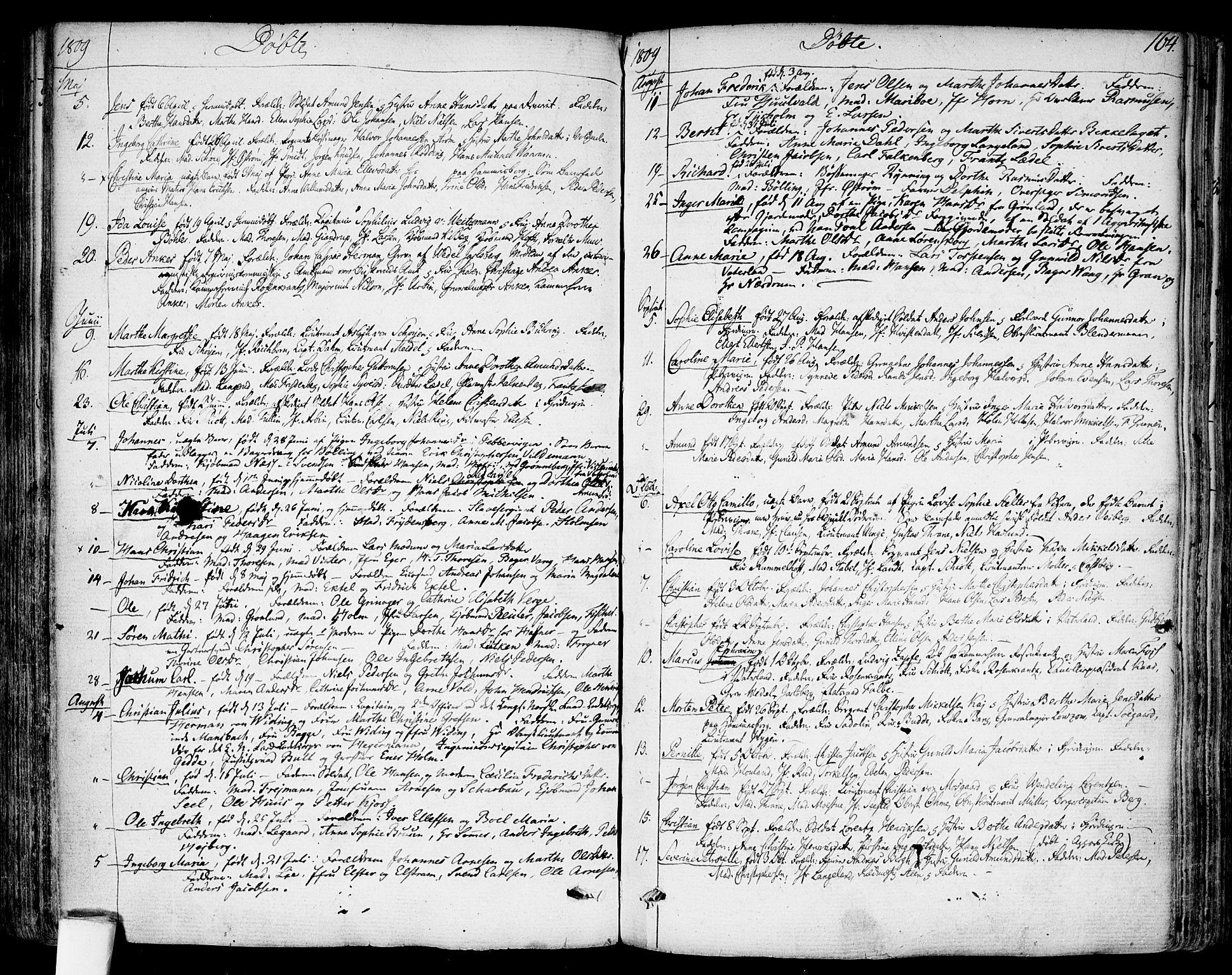 SAO, Garnisonsmenigheten Kirkebøker, F/Fa/L0003: Ministerialbok nr. 3, 1777-1809, s. 164