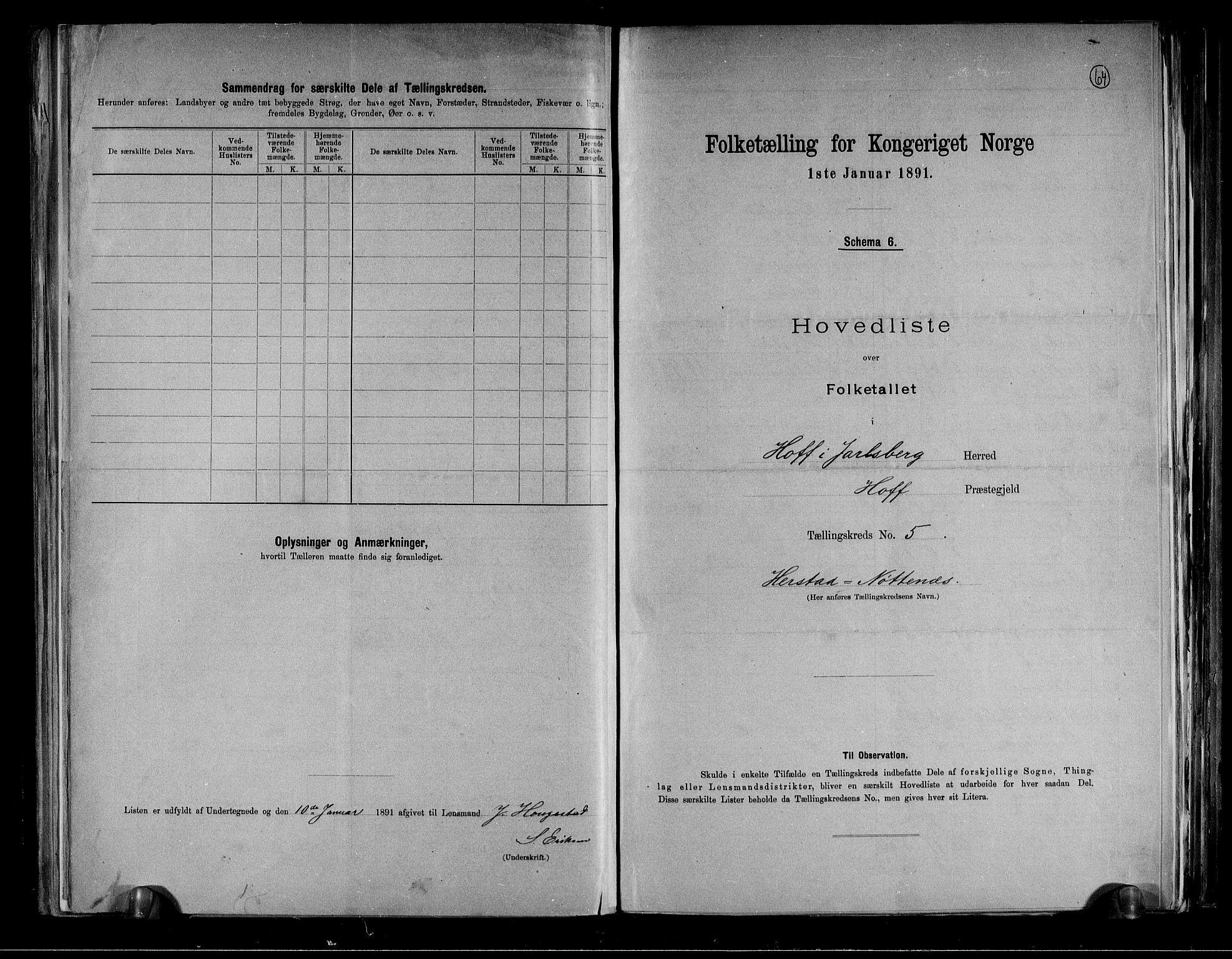 RA, Folketelling 1891 for 0714 Hof herred, 1891, s. 12