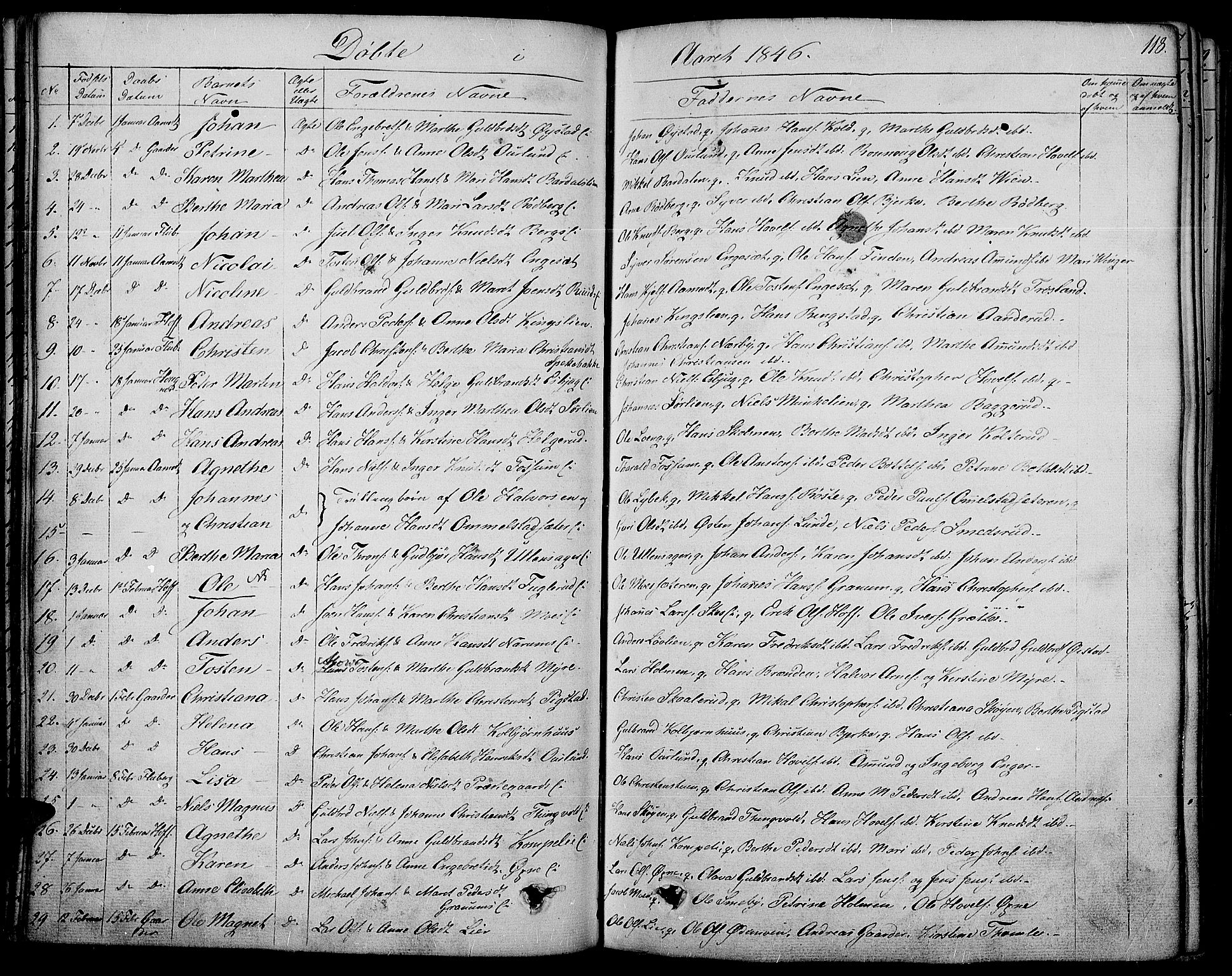 SAH, Land prestekontor, Ministerialbok nr. 8, 1830-1846, s. 118
