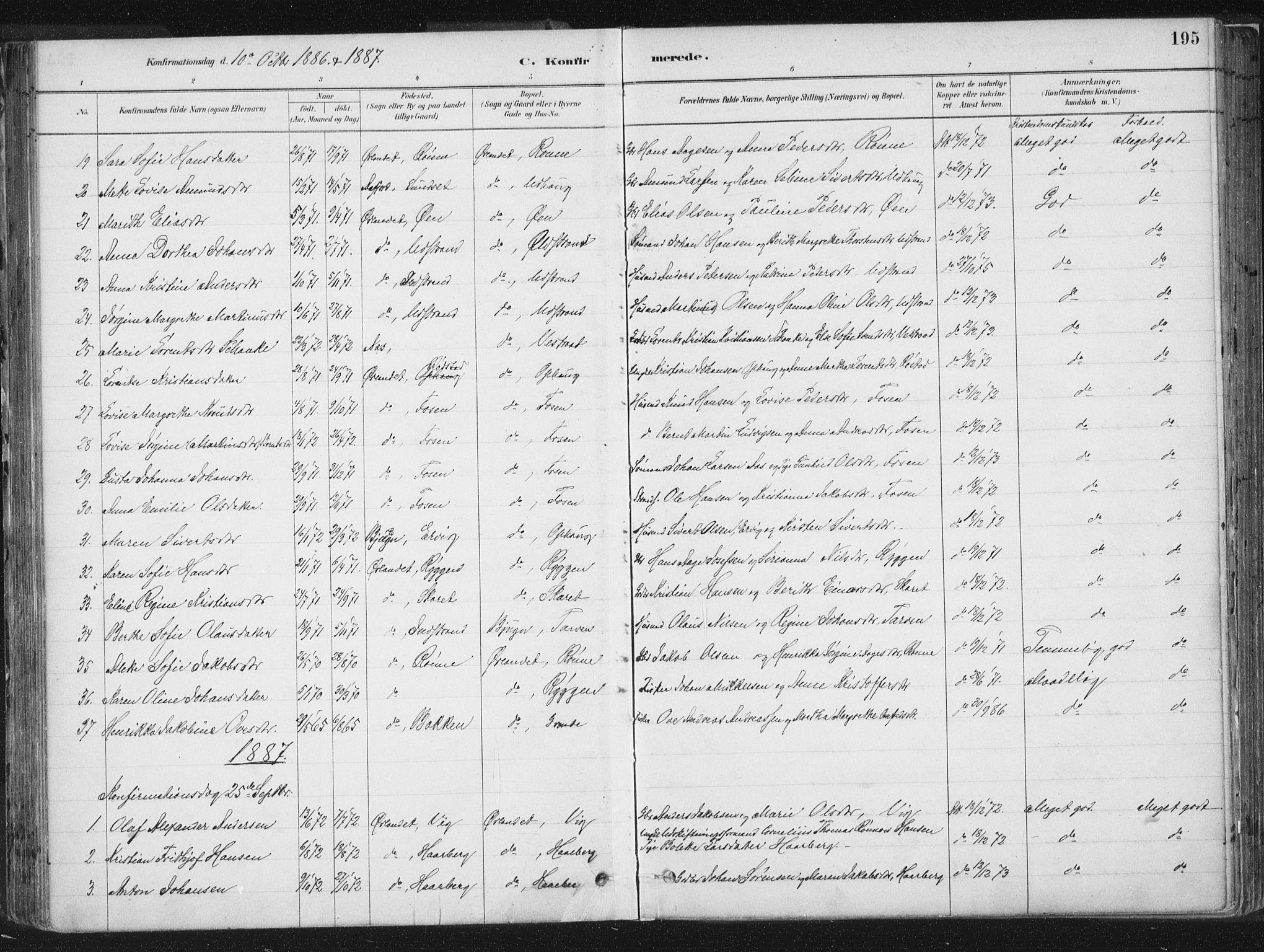 SAT, Ministerialprotokoller, klokkerbøker og fødselsregistre - Sør-Trøndelag, 659/L0739: Ministerialbok nr. 659A09, 1879-1893, s. 195