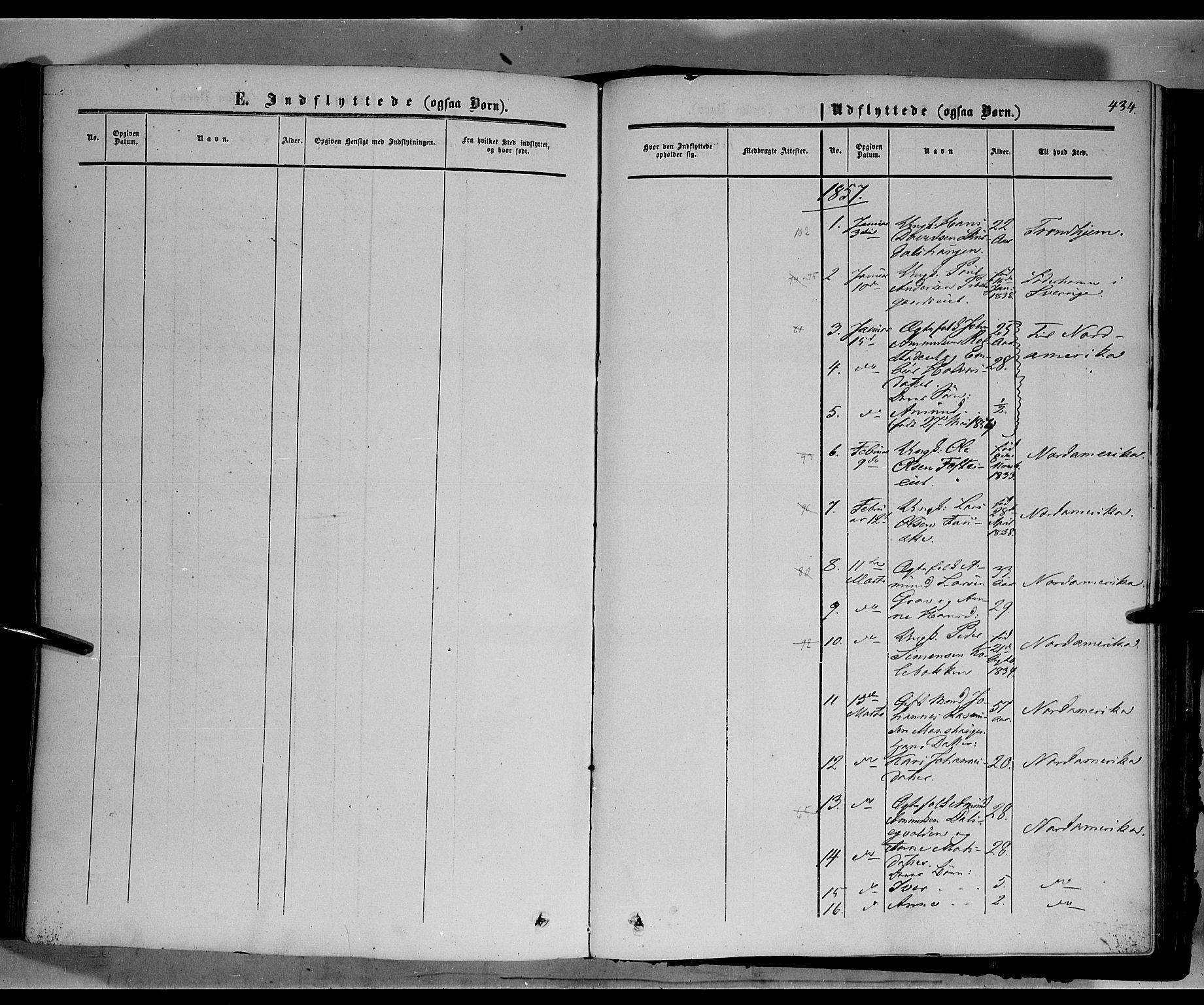 SAH, Sør-Fron prestekontor, H/Ha/Haa/L0001: Ministerialbok nr. 1, 1849-1863, s. 434