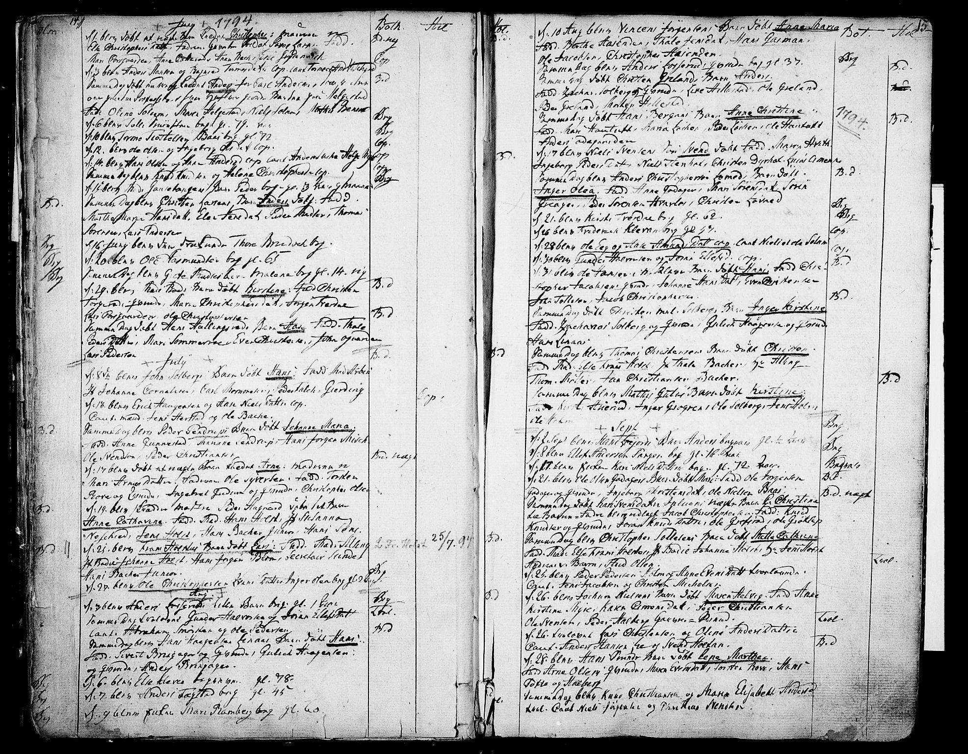 SAKO, Botne kirkebøker, F/Fa/L0003: Ministerialbok nr. I 3 /1, 1792-1844, s. 14-15