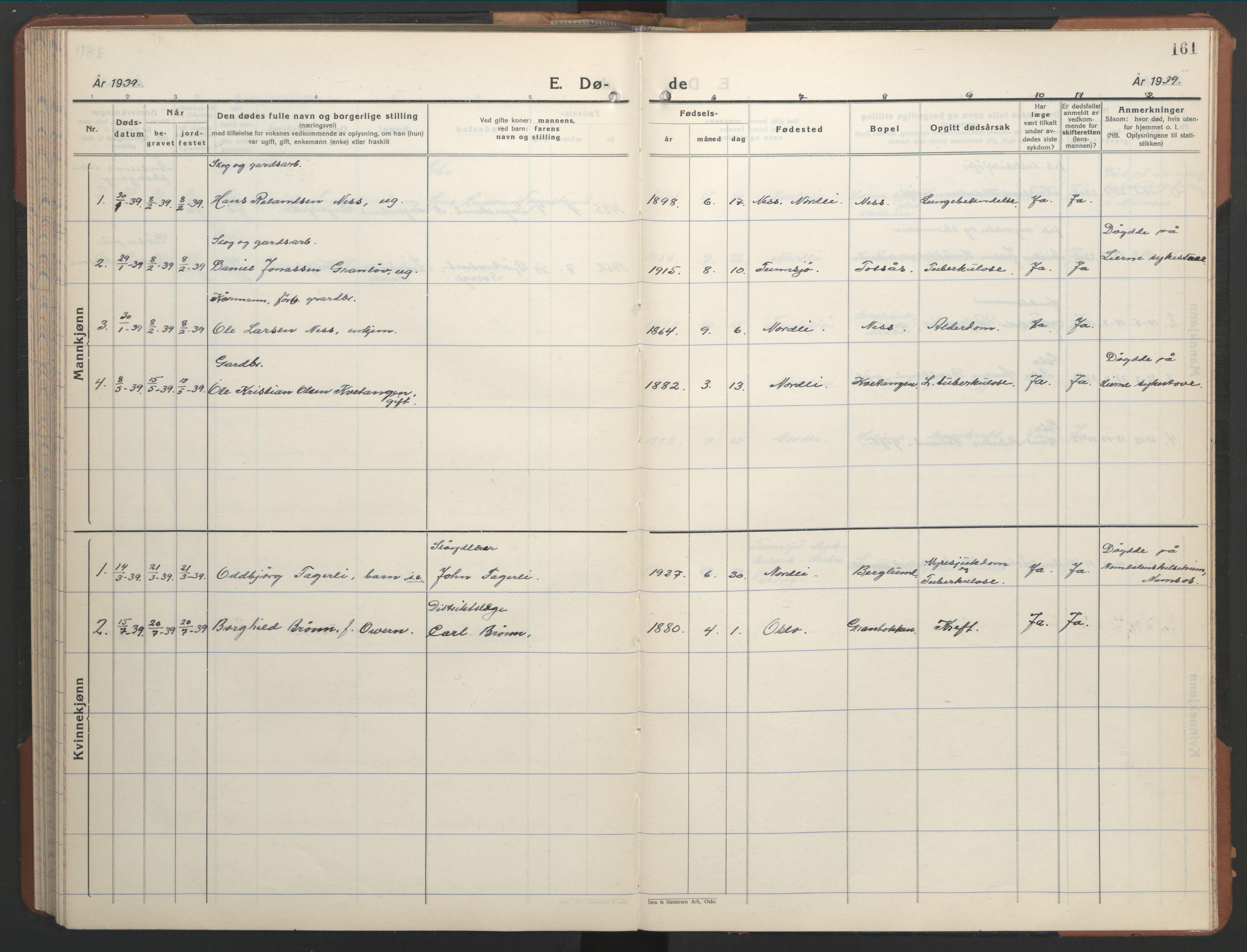 SAT, Ministerialprotokoller, klokkerbøker og fødselsregistre - Nord-Trøndelag, 755/L0500: Klokkerbok nr. 755C01, 1920-1962, s. 161