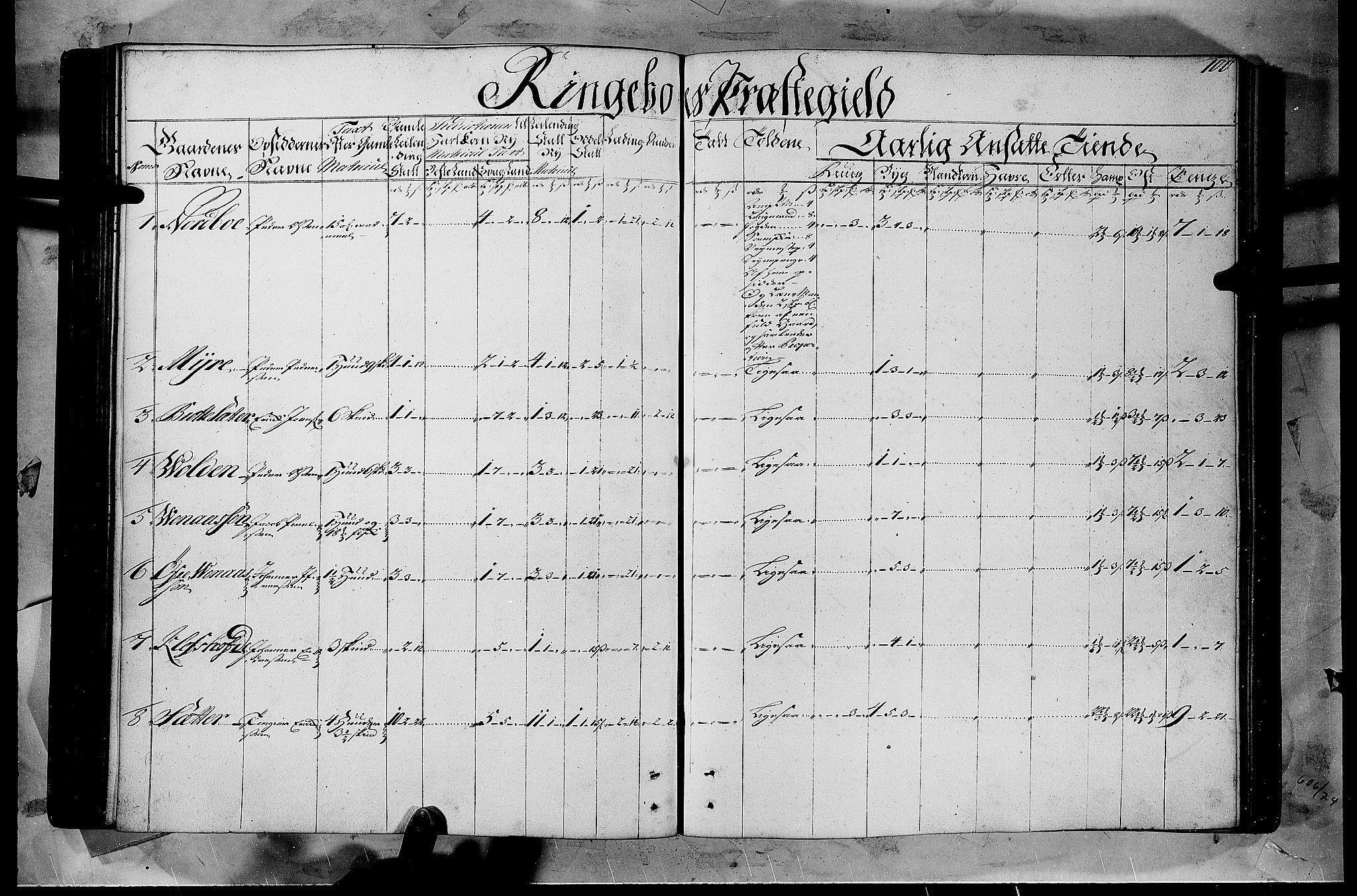 RA, Rentekammeret inntil 1814, Realistisk ordnet avdeling, N/Nb/Nbf/L0108: Gudbrandsdalen matrikkelprotokoll, 1723, s. 99b-100a